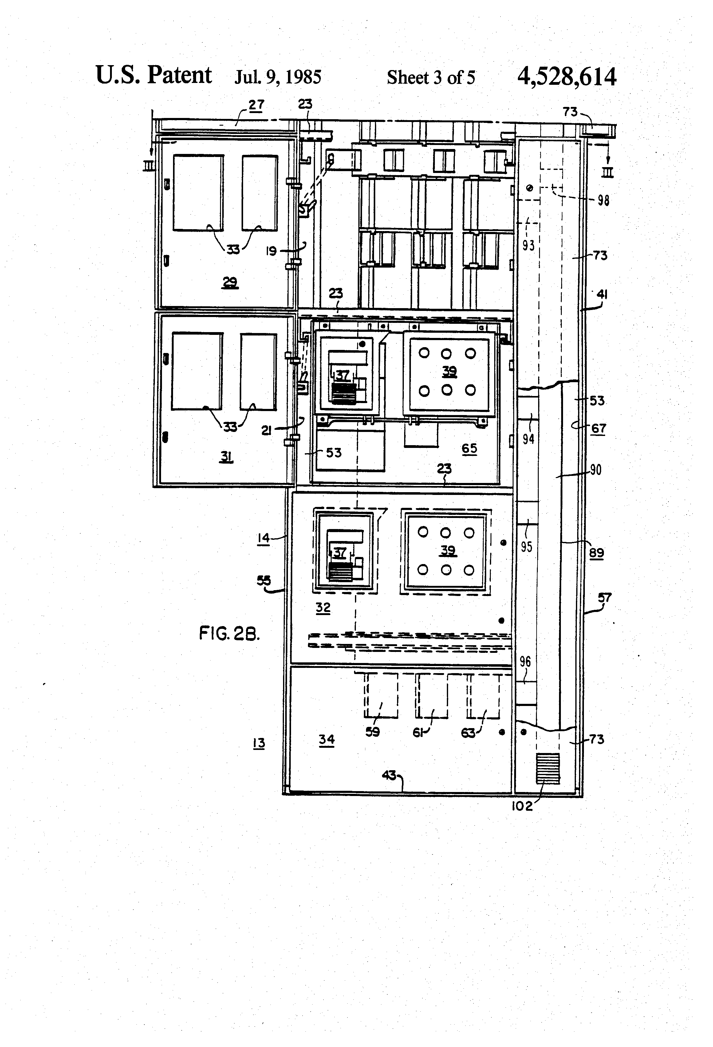 Extending Branch Circuit Electrical Best Schematic Multi Wire Diagram Patent Us4528614 Electric Control Center Having Integral 3
