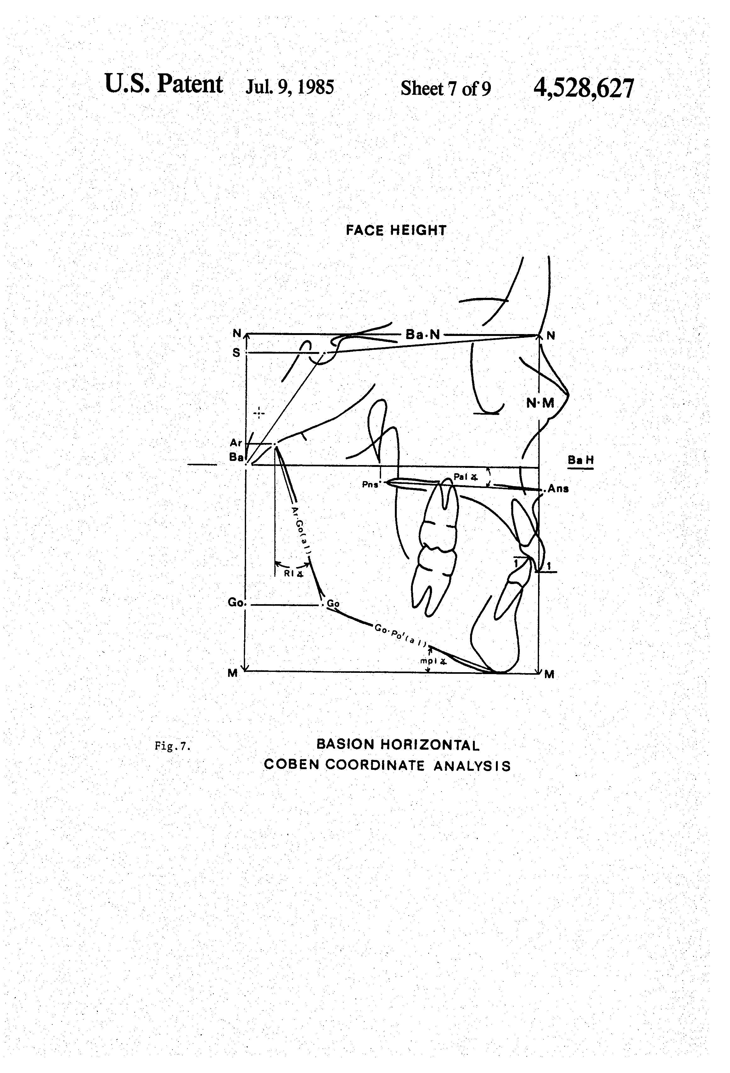 patent us method for cephalometric quantitation and patent drawing