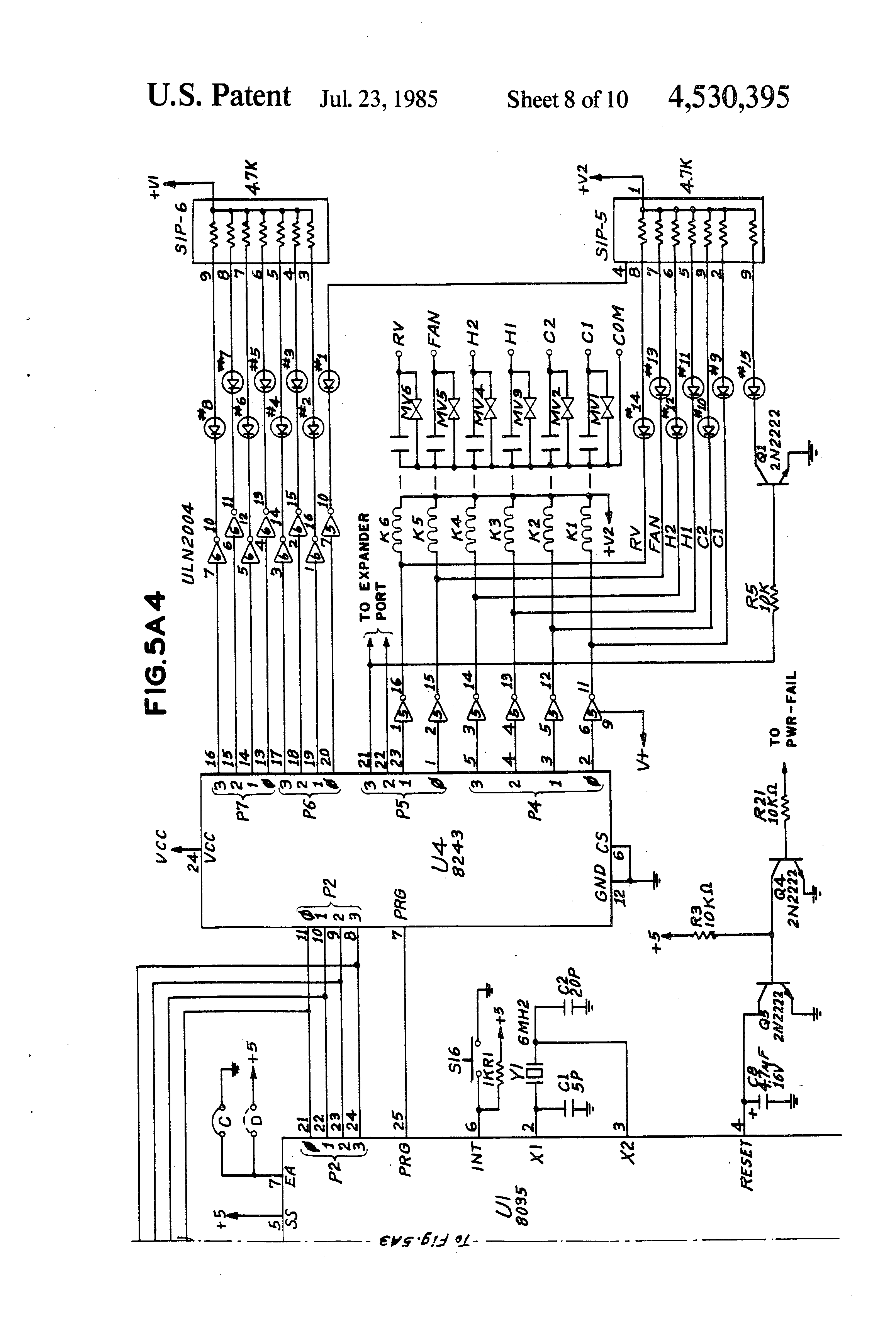 patent us single zone hvac controlled for operation in patent drawing