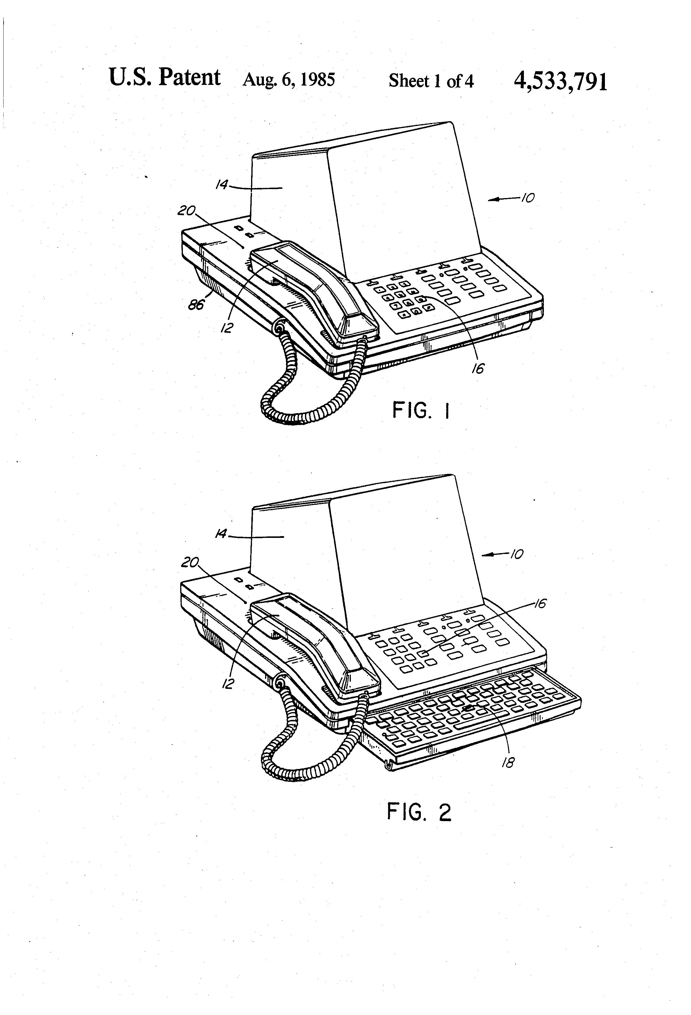 patent us4533791  output device arrangements for