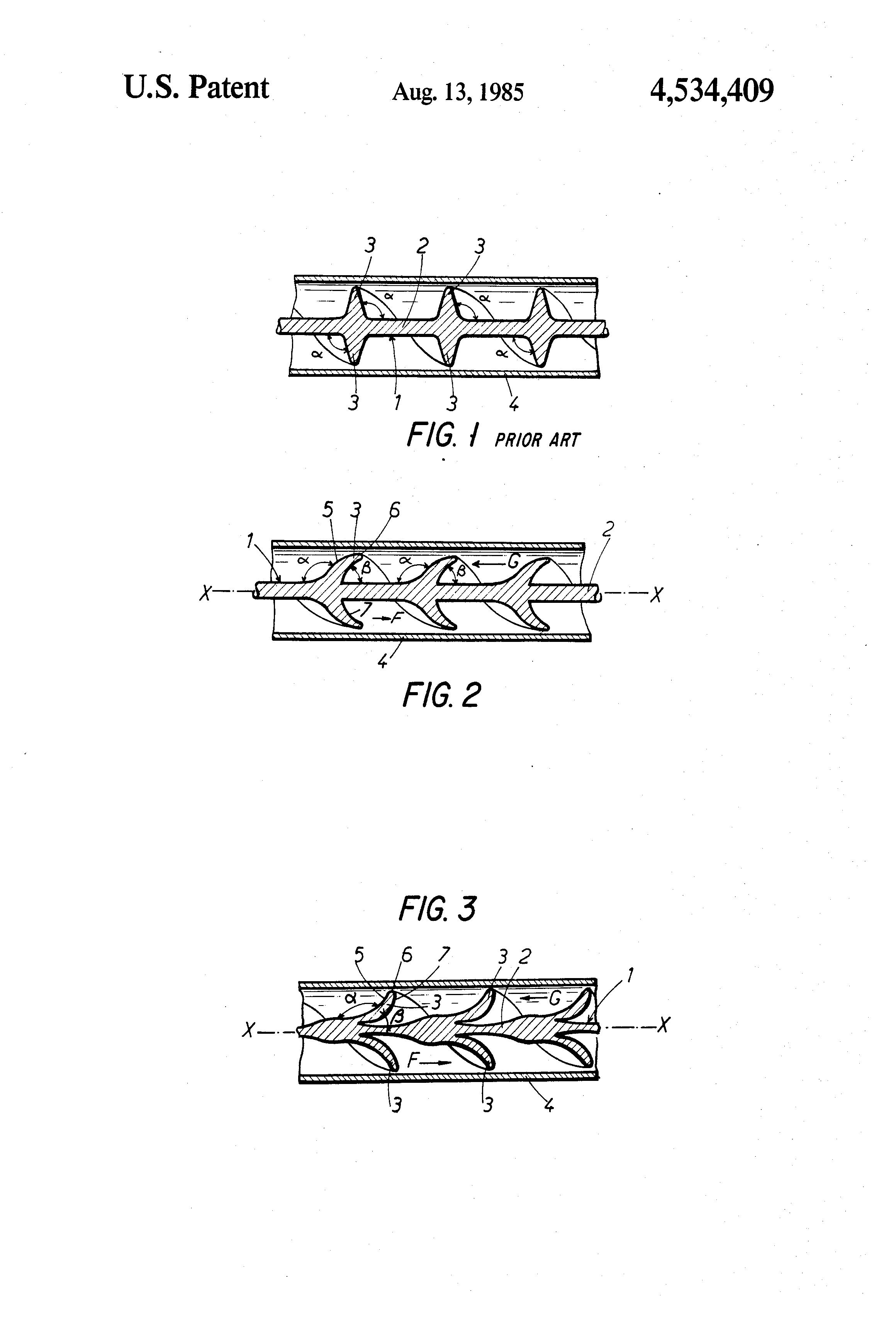 Brevet US Tubular heat exchanger and helical agitators