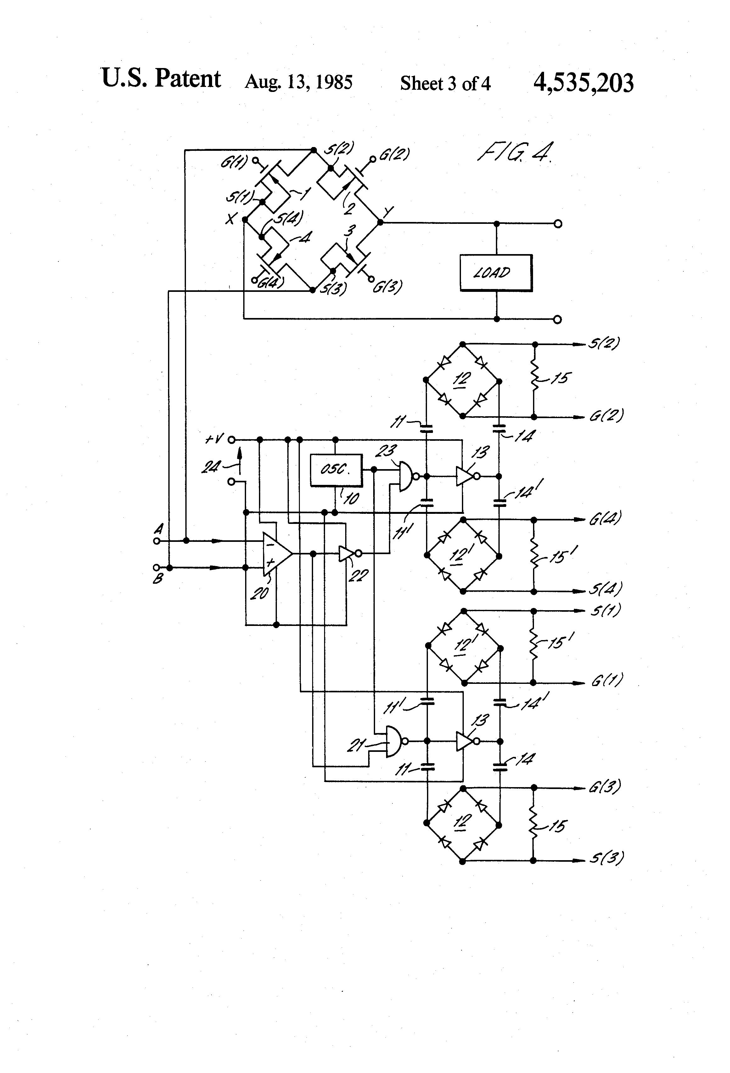 patent us4535203 - bridge rectifier circuit