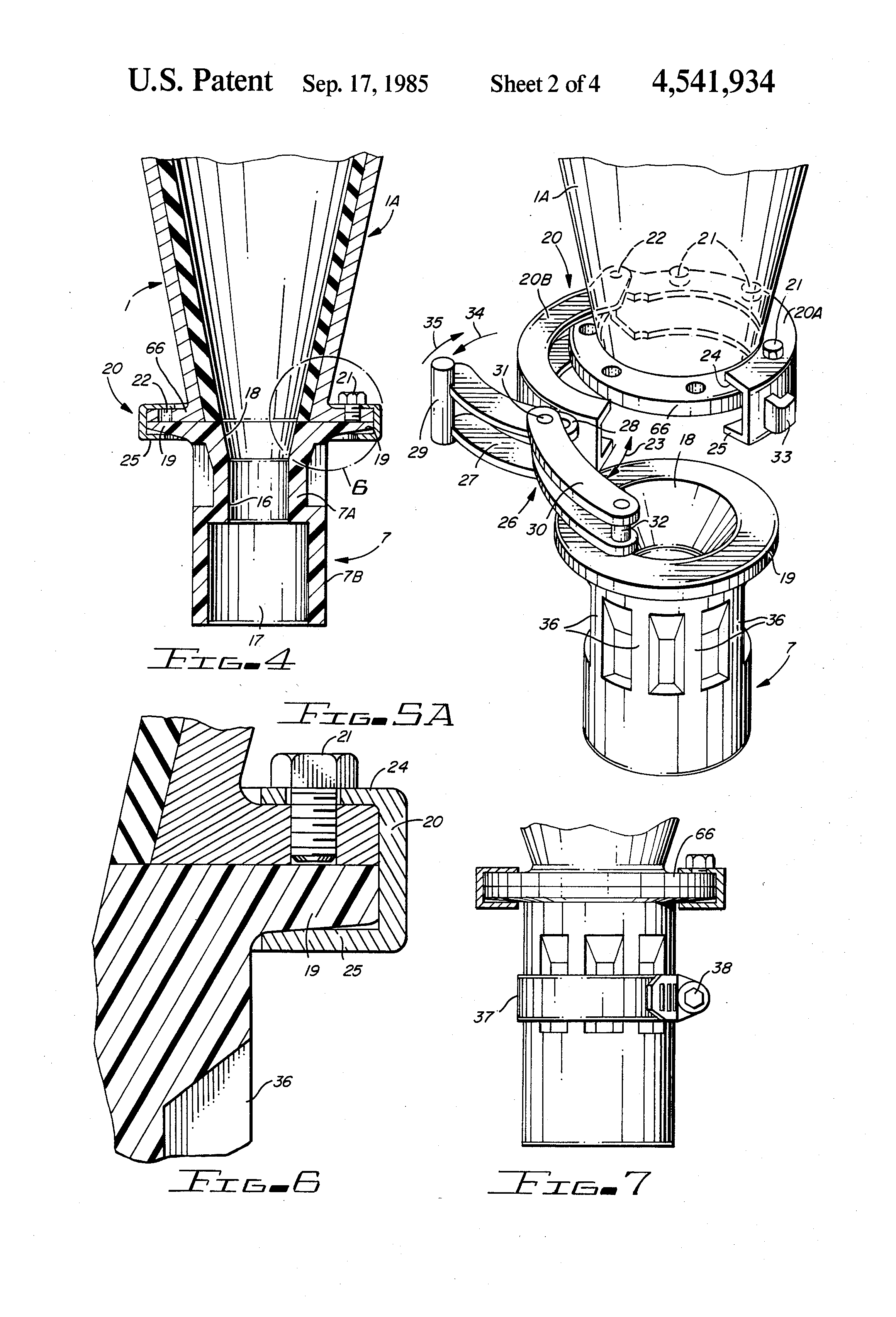 patent us4541934 - quick release cyclone apex system