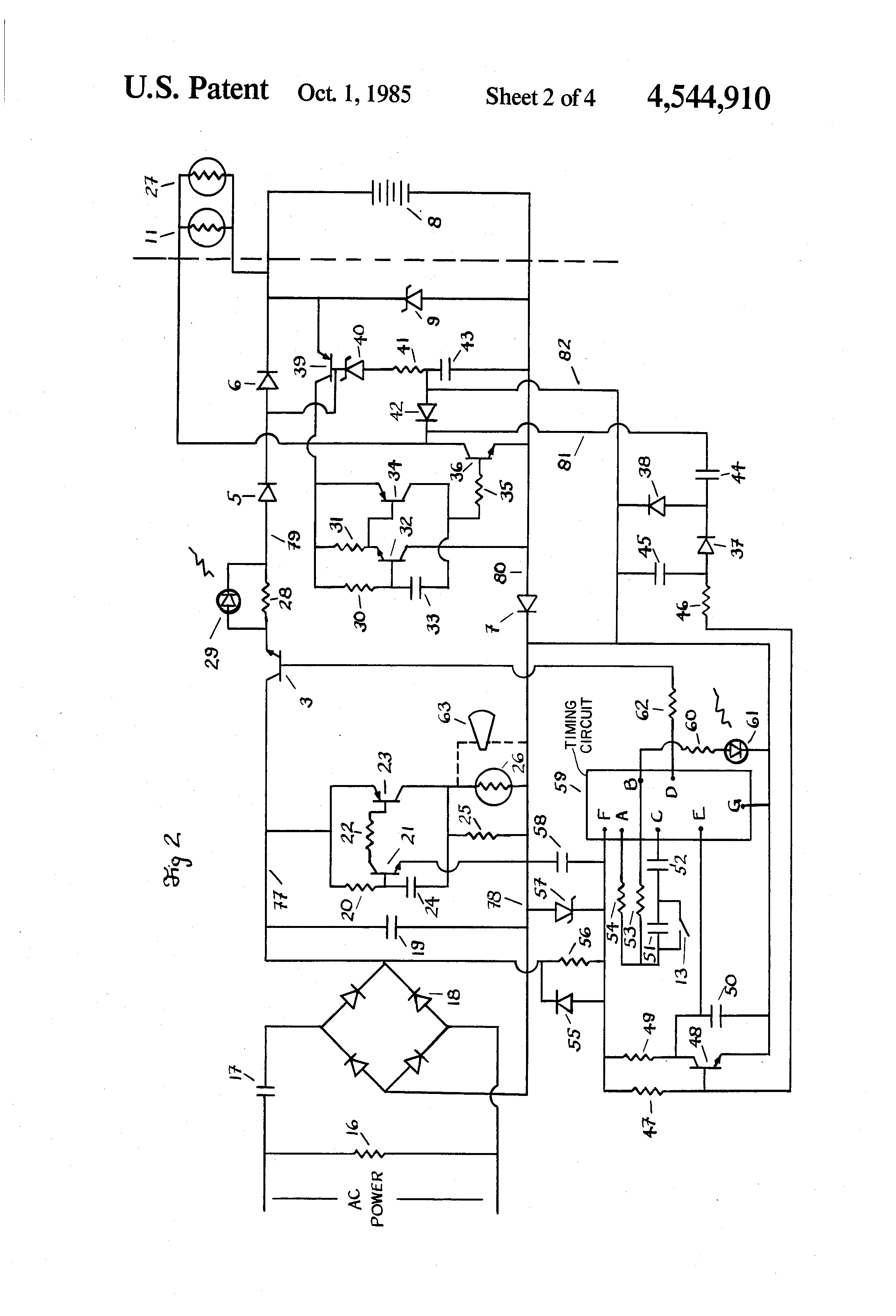 Exit Sign Diagram 17 Wiring Images Diagrams Schematic Us4544910 2 Patent Lamp Flashing System With Self Signs At Cita