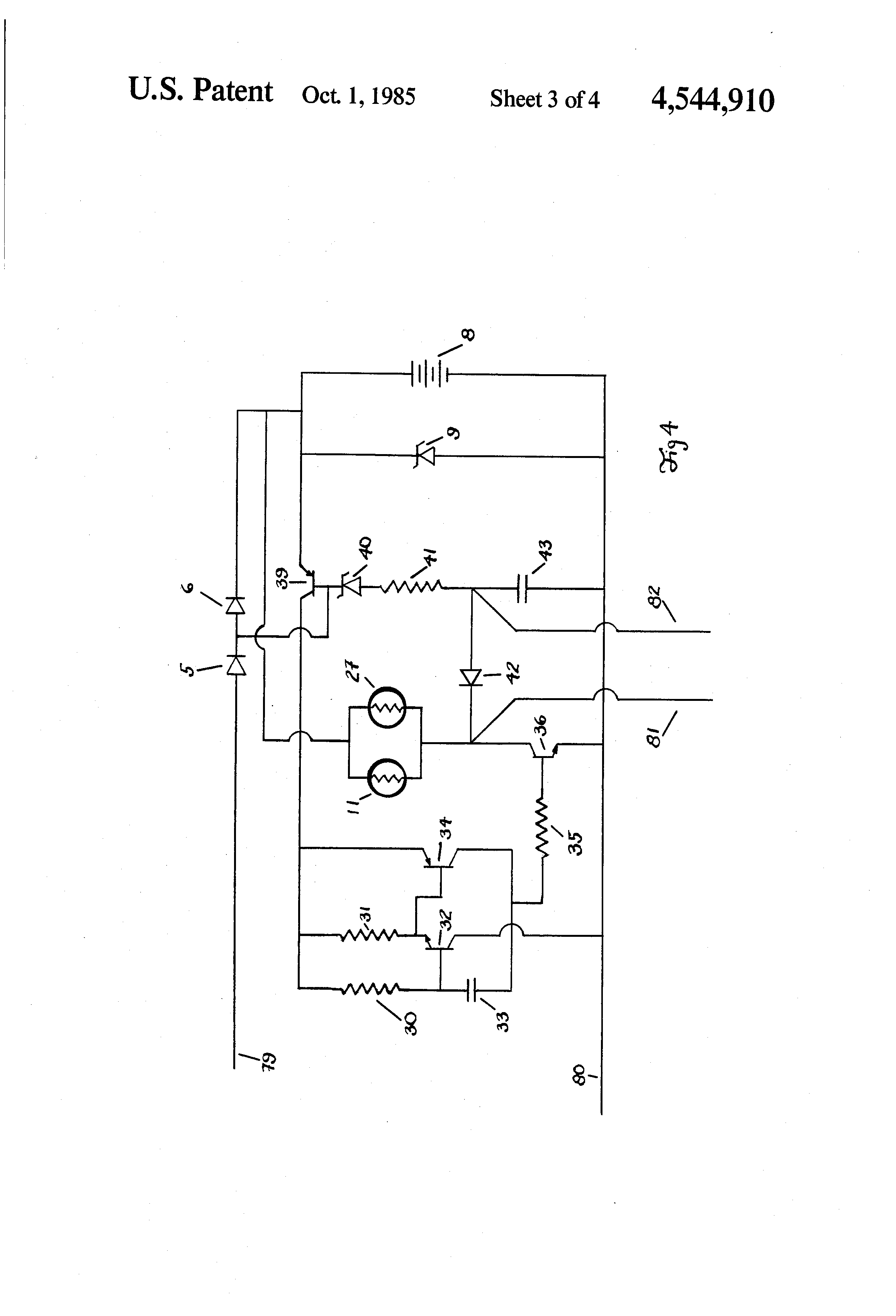 Mains Power Failure Alarm Circuit Question About Wiring Diagram Patent Us4544910 Exit Sign Lamp Flashing System With Self Checking Provisions Google Patents Supply Outage