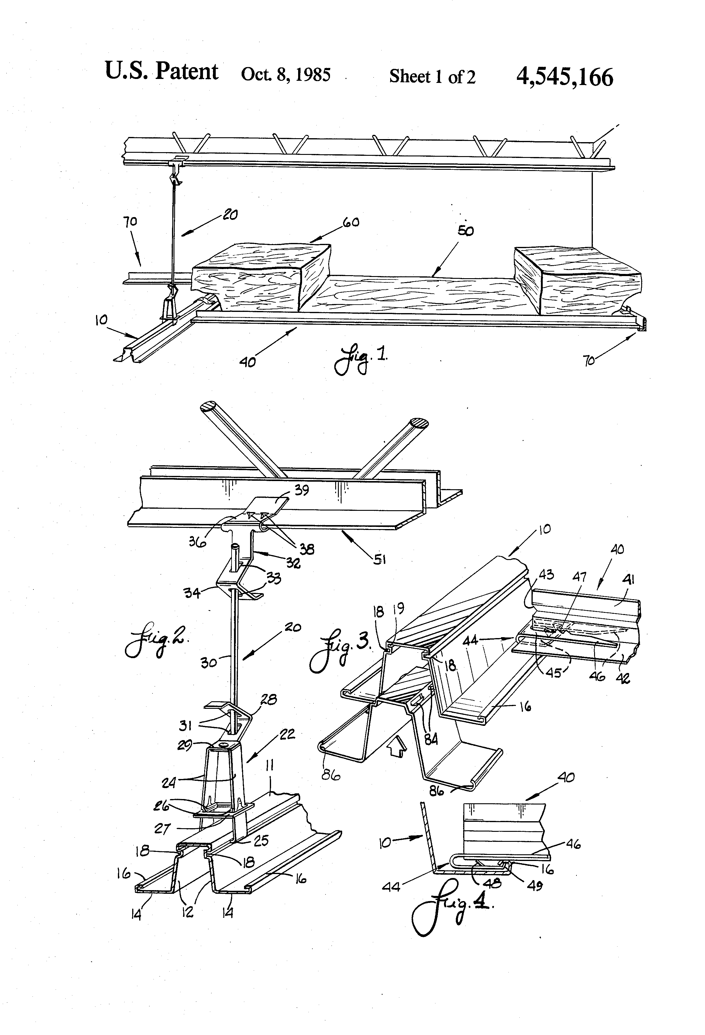 Patent Us4545166 Ceiling Insulation System Google Patents