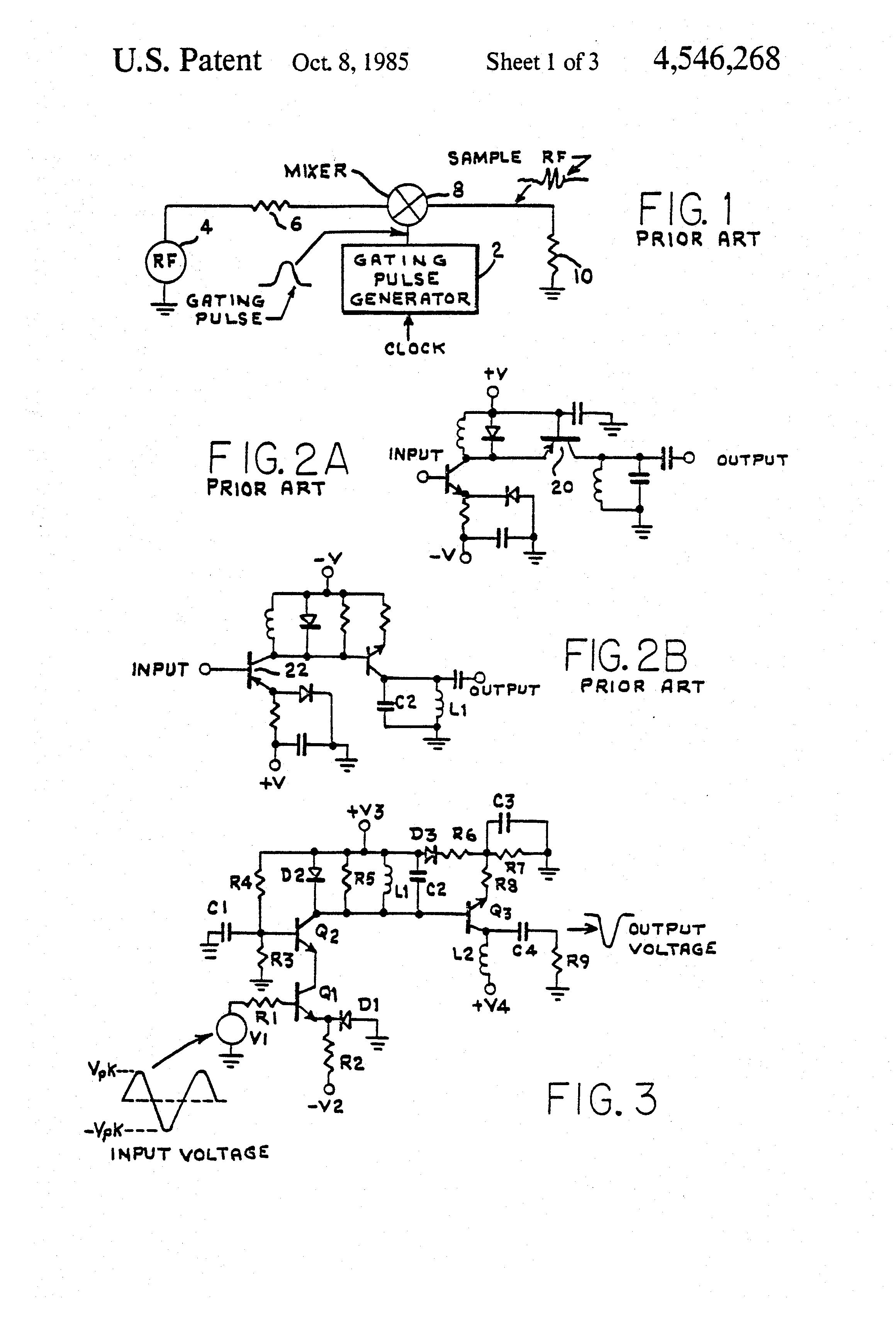Patent Us4546268 Narrow Pulsewidth Pulse Generator Circuit Transistor Diagram Npn Drawing