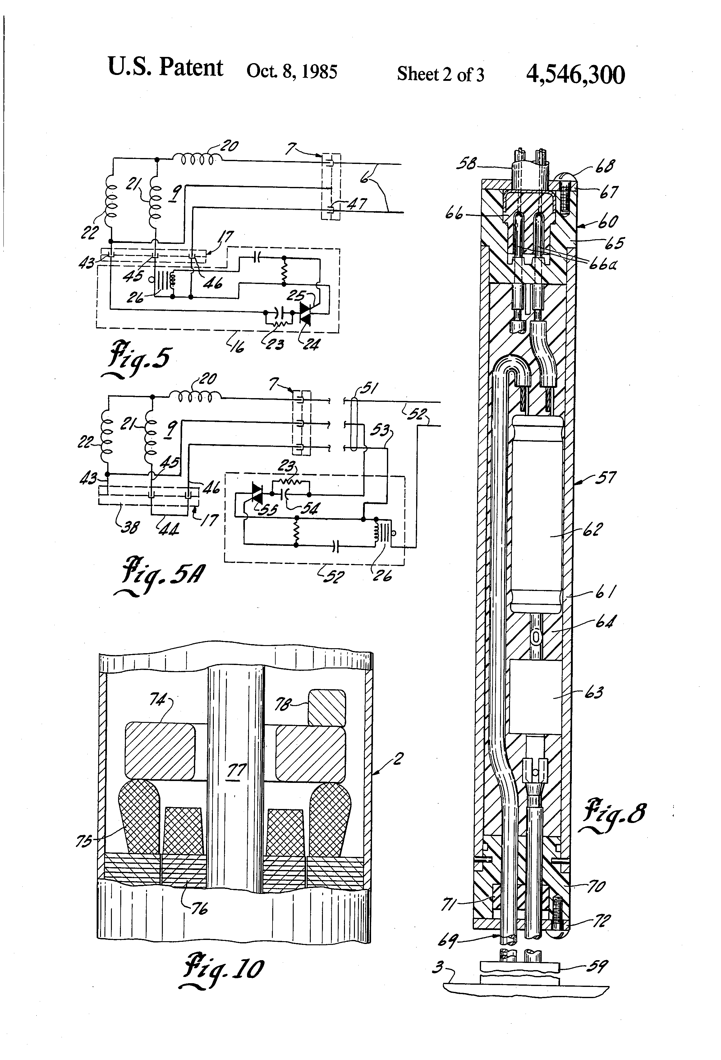 US4546300 2 patent us4546300 electric power supply connection for 220V Well Pump Wiring Diagram at n-0.co