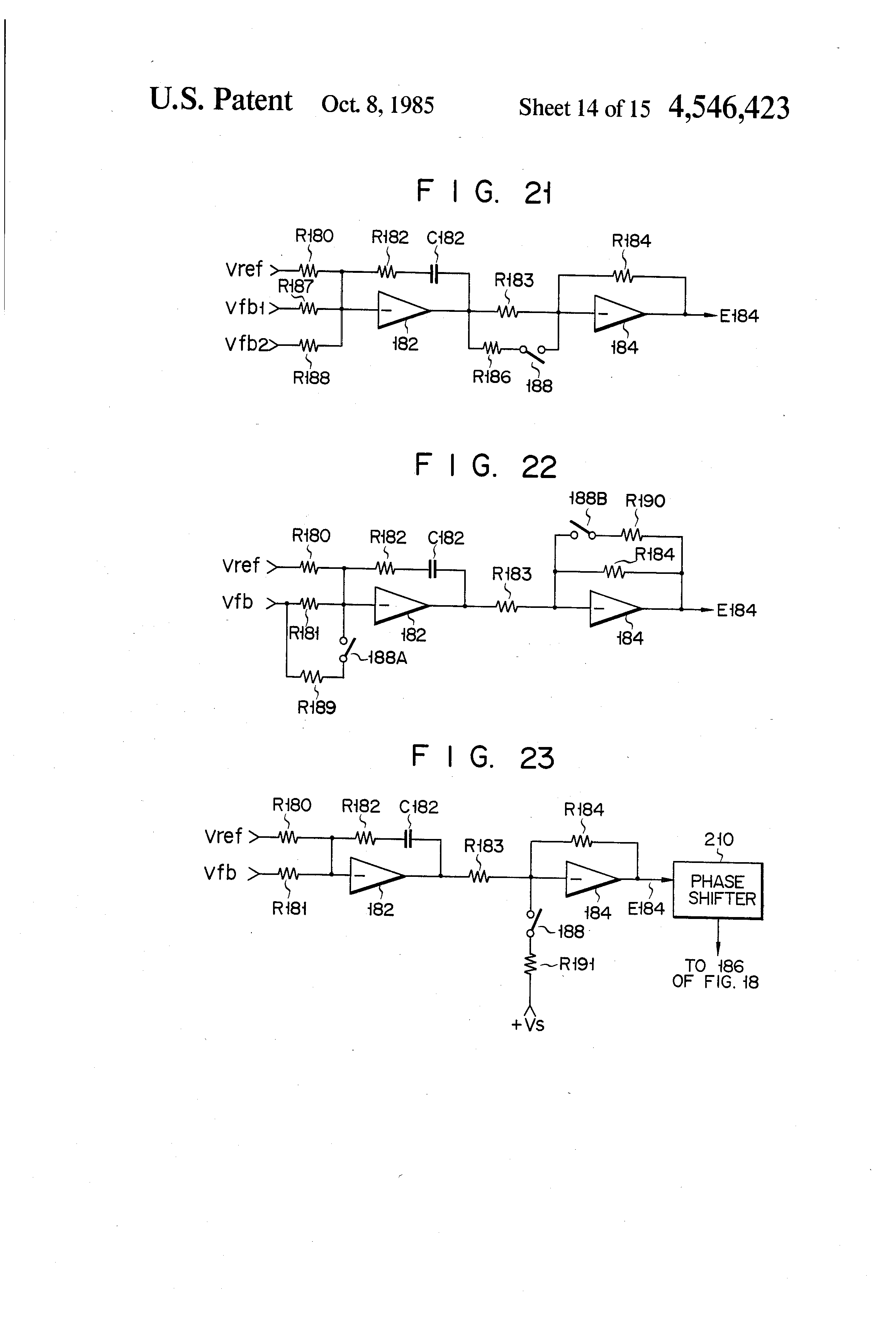 Patent Us4546423 Multiple Inverters With Overcurrent And Shoot Variable Voltage Regulator Circuit L200 Drawing