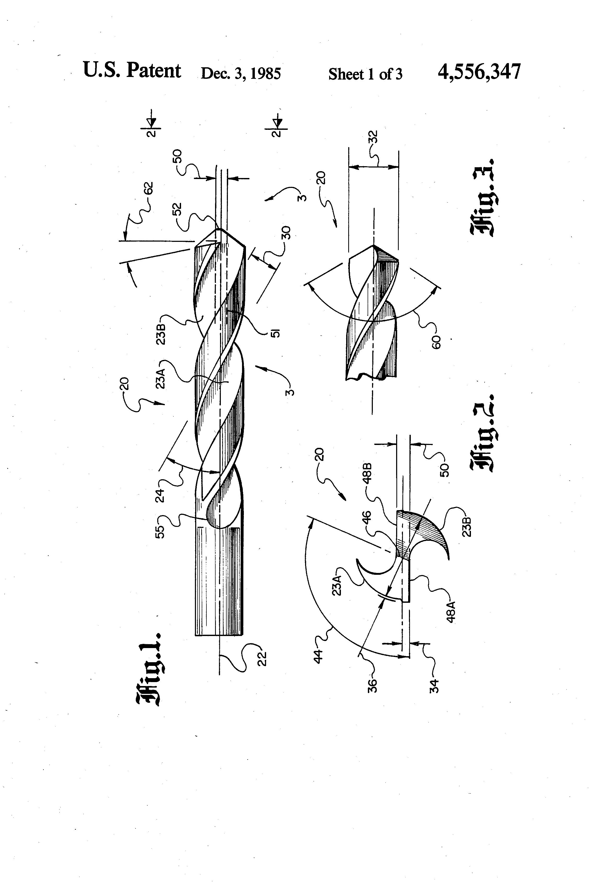 Patent US4556347 - Split-point twist drill - Google Patentler