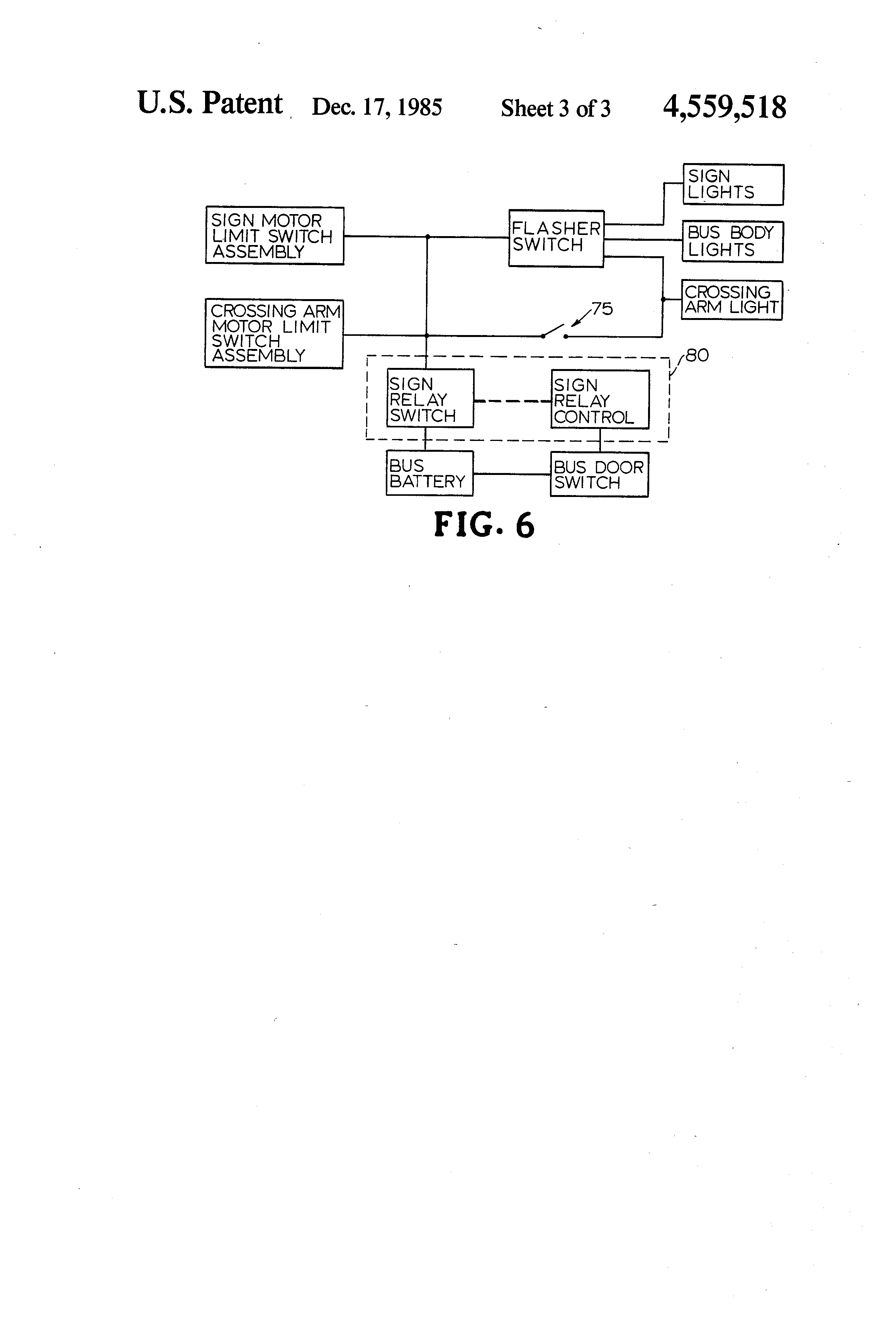 patent us school bus stop sign and crossing arm apparatus patent drawing