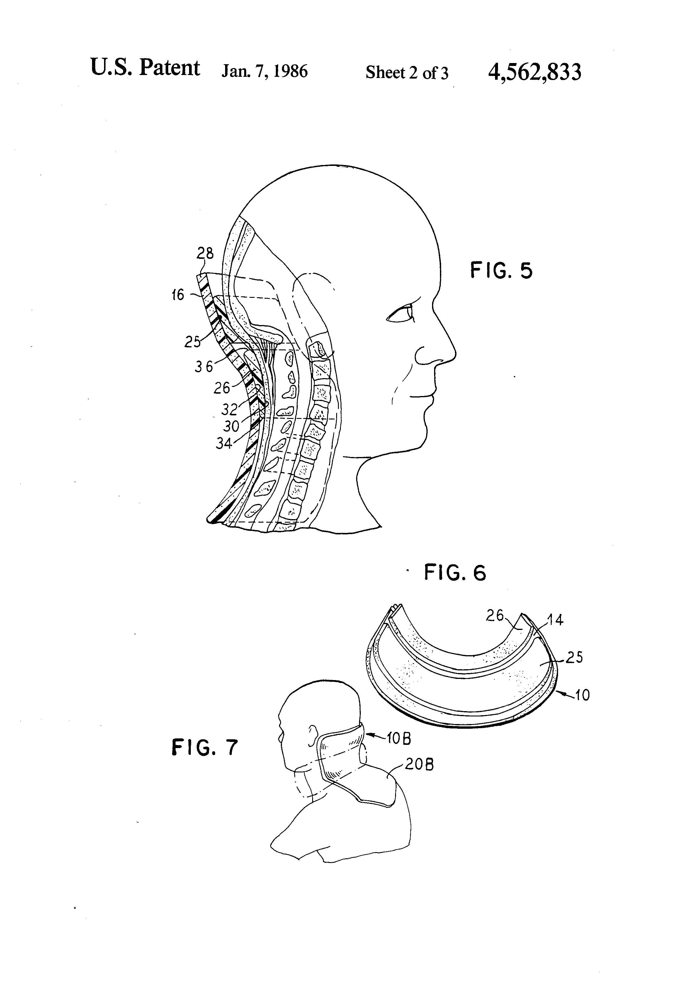 Patent Us4562833 Device For Cervical Occipital Support