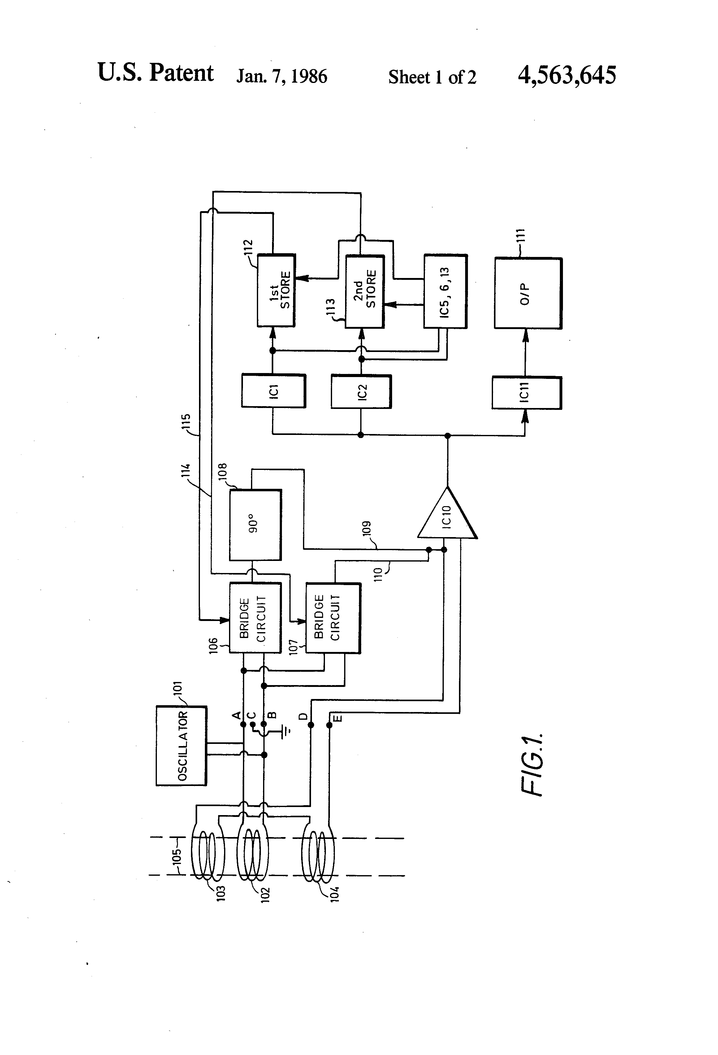 US4563645 1 patent us4563645 inductively balanced oscillatory coil current safeline metal detector wiring diagram at n-0.co