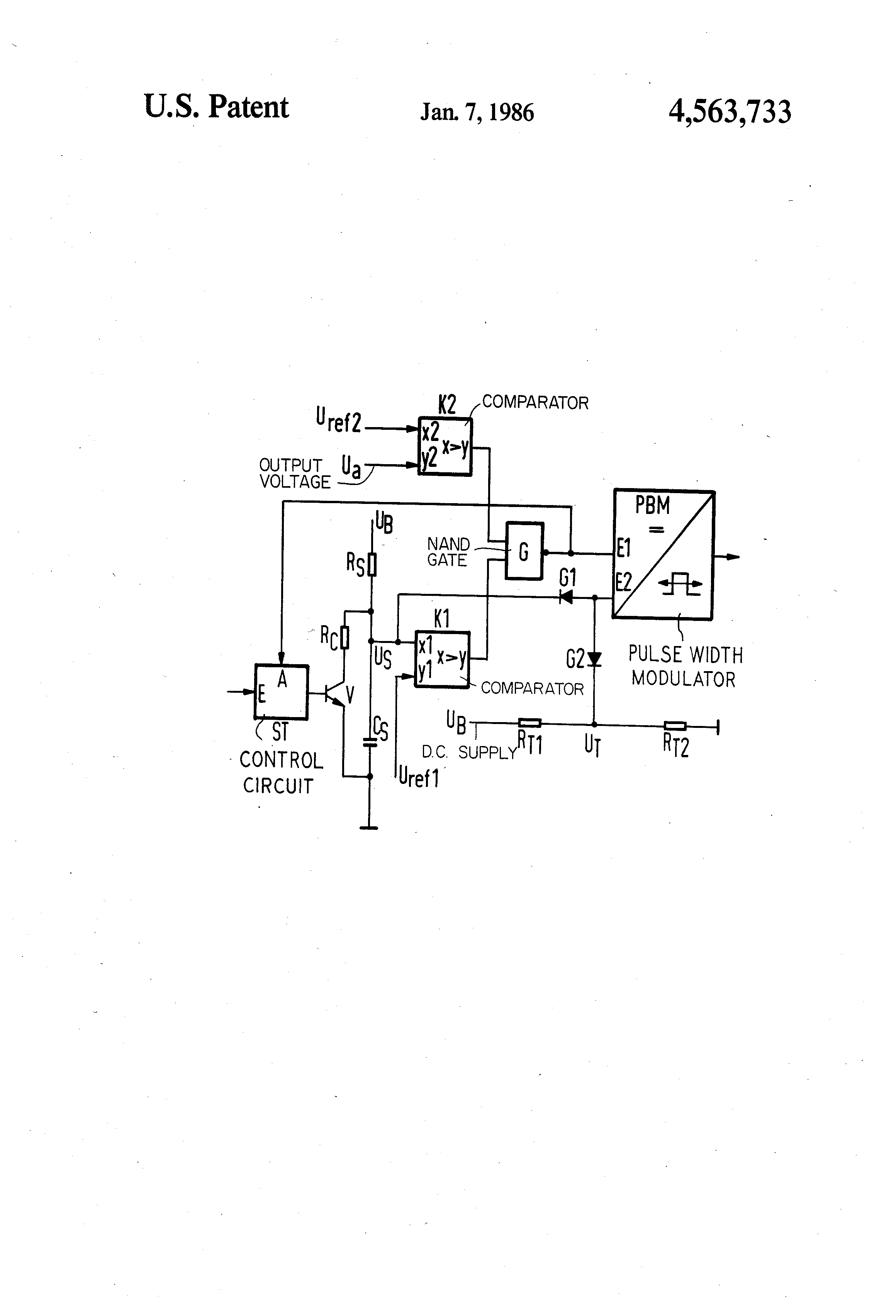 Patent Us4563733 Startup Circuit For A Switched Power Supply Nand Gate Circuits Drawing