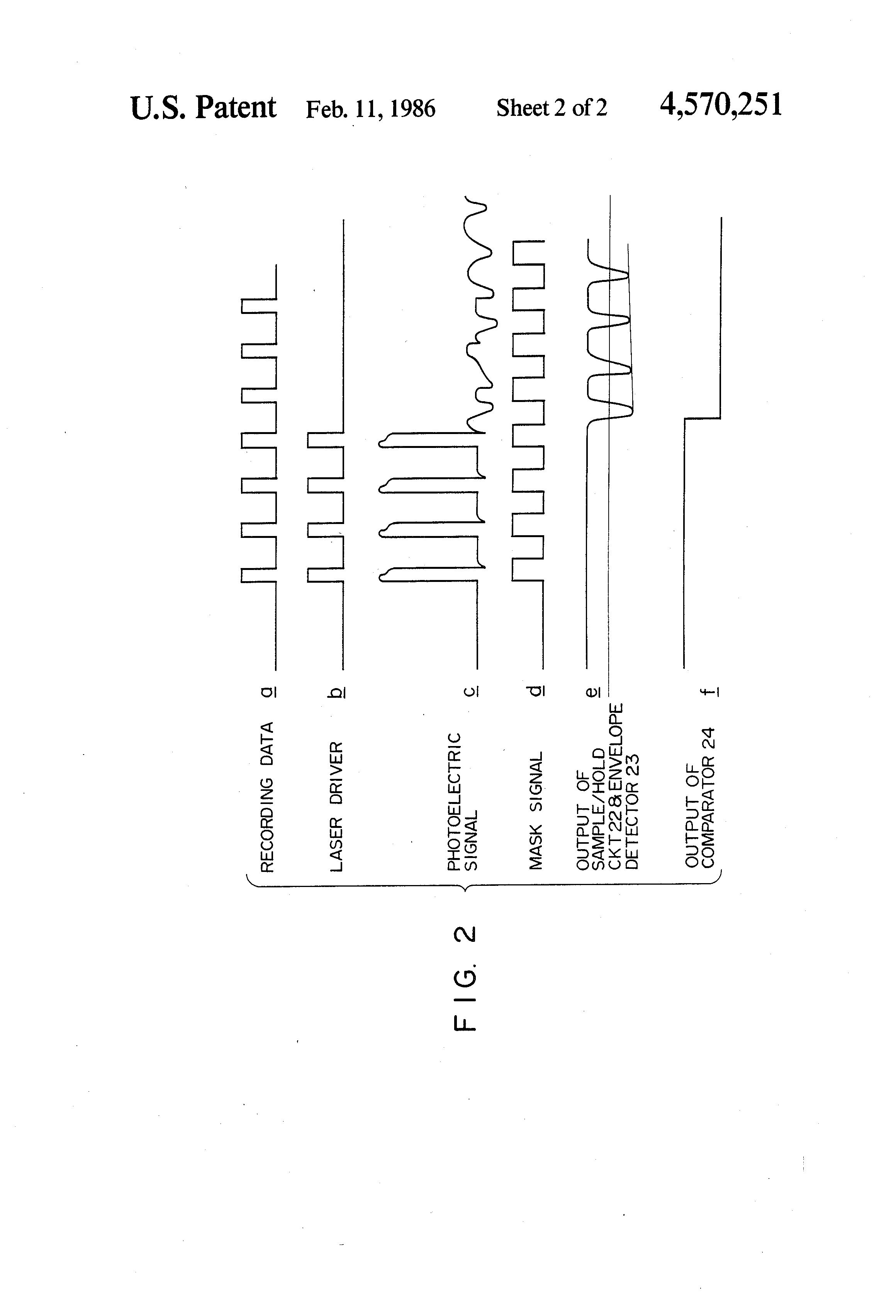 Patent Us4570251 Overlay Recording Prevention Device For Optical An Envelope Detector The Block Diagram Of Is Drawing