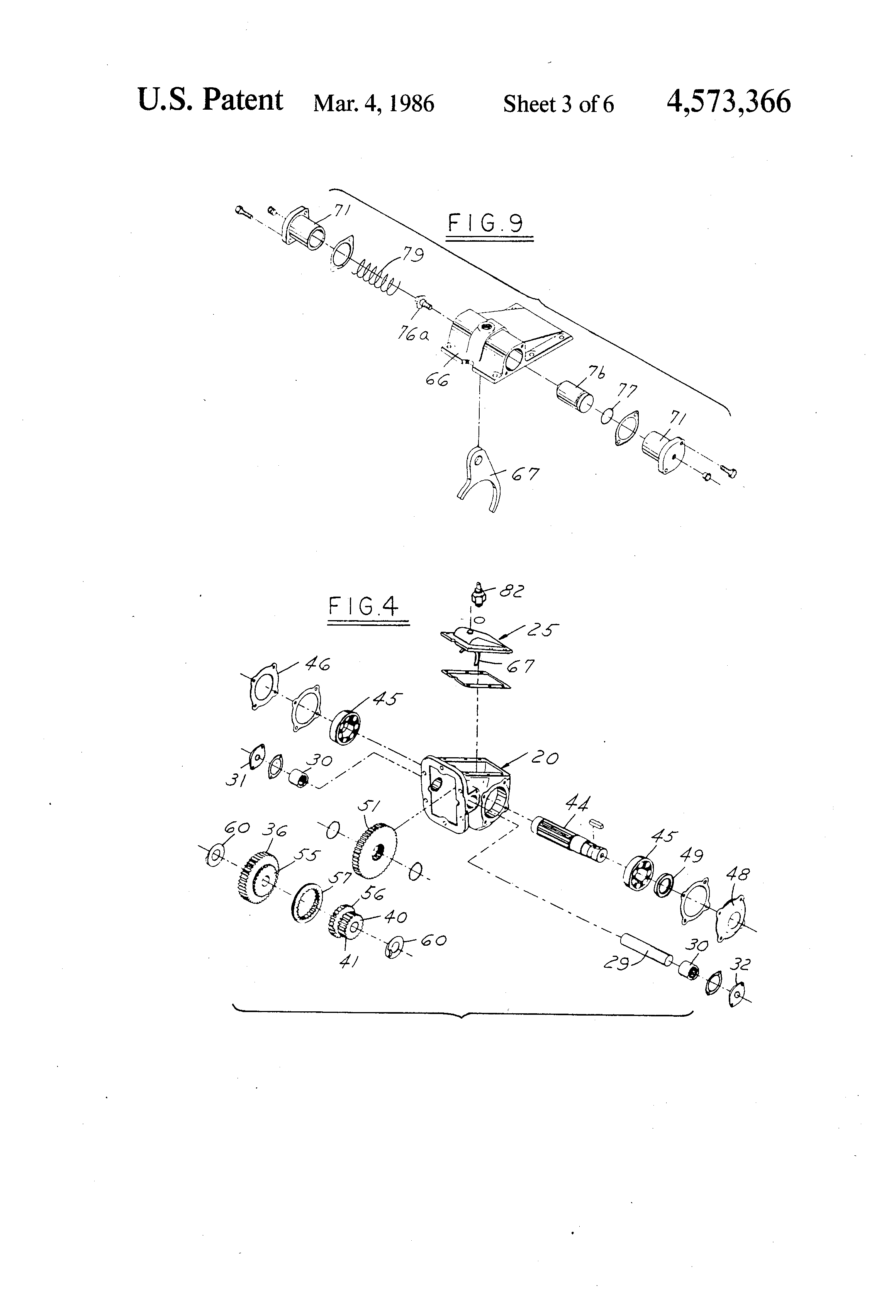 patent us4573366 - power transmission