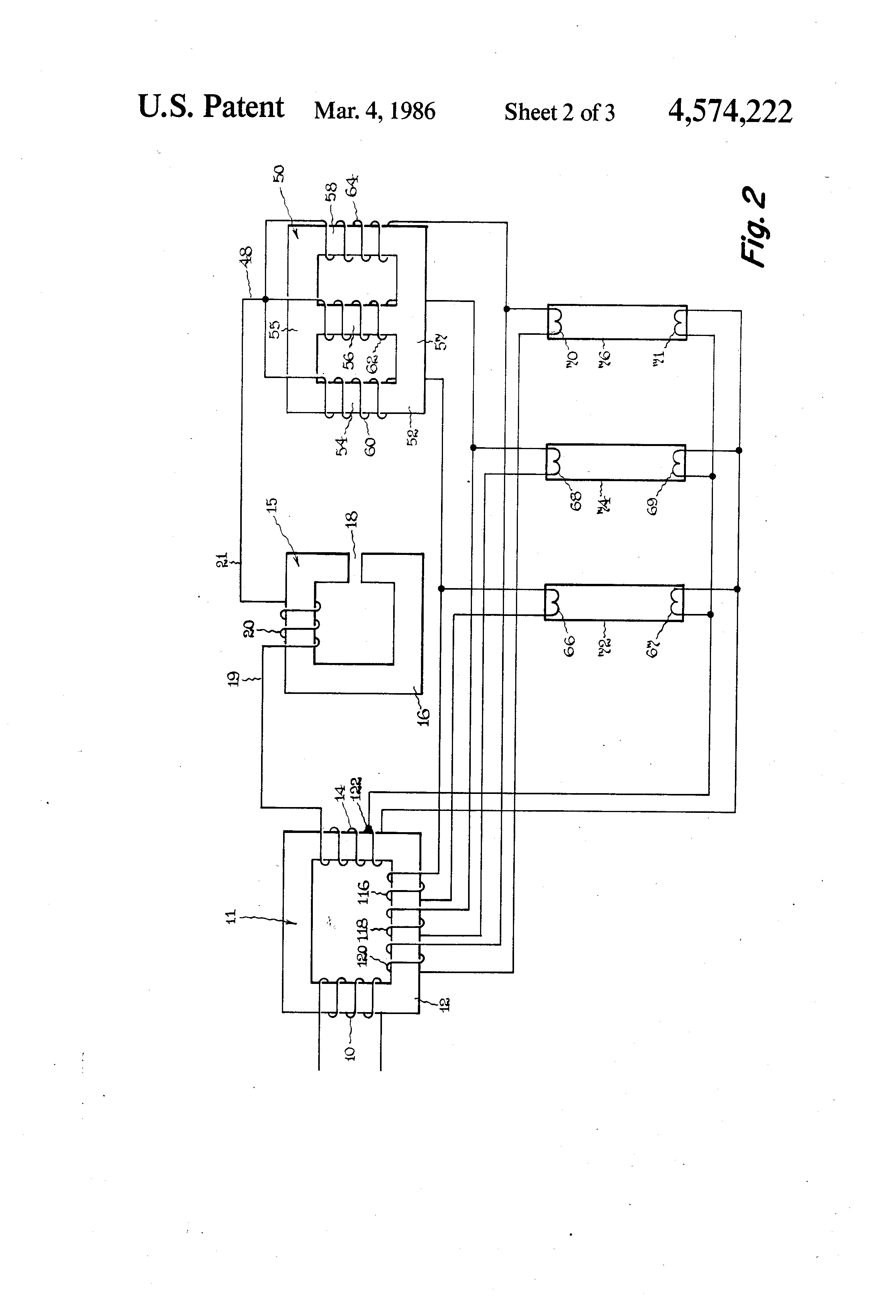 patent us4574222 - ballast circuit for multiple parallel negative impedance loads