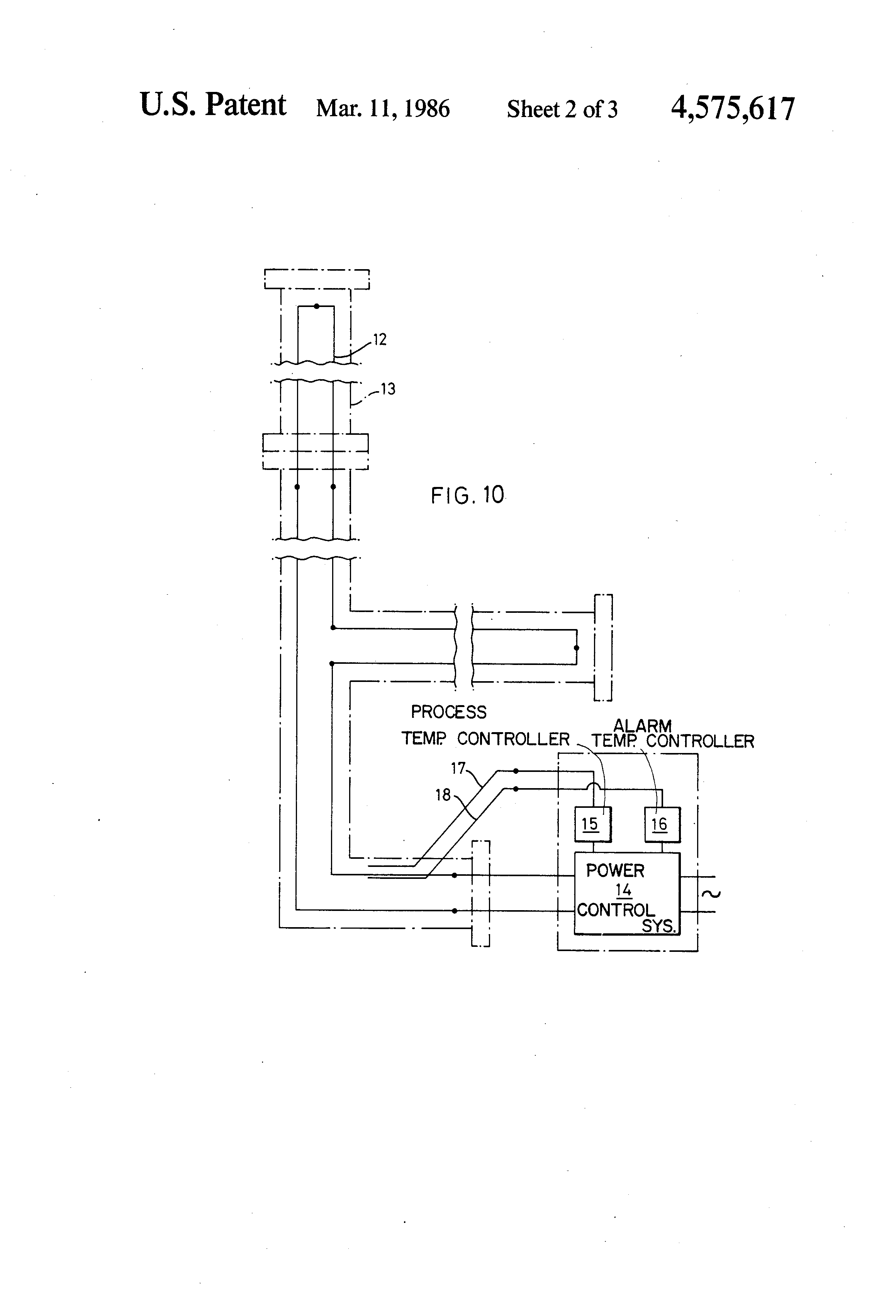 US4575617 2 patent us4575617 heat tracing tape and power control system heat trace controller wiring diagram at edmiracle.co