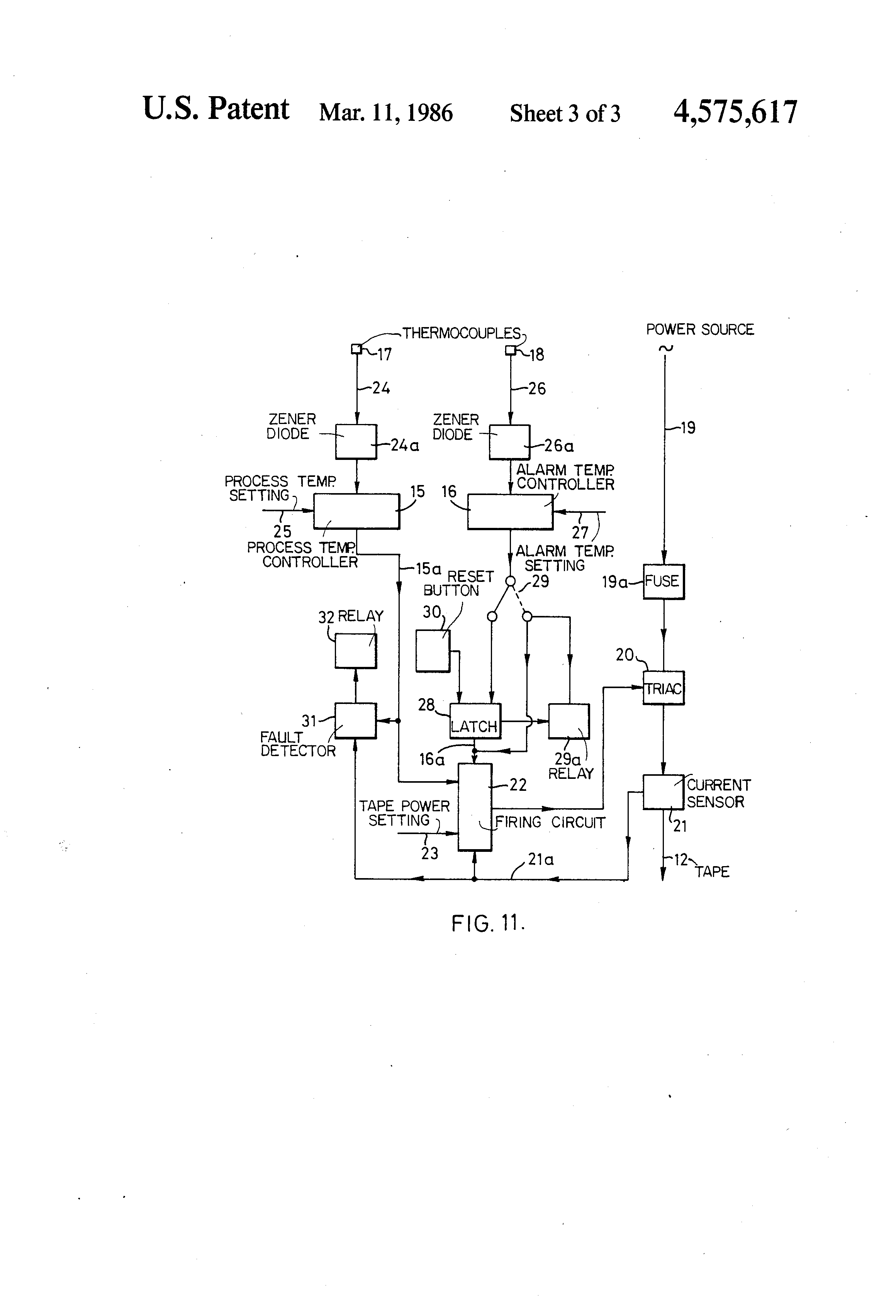 US4575617 3 patent us4575617 heat tracing tape and power control system heat trace controller wiring diagram at edmiracle.co