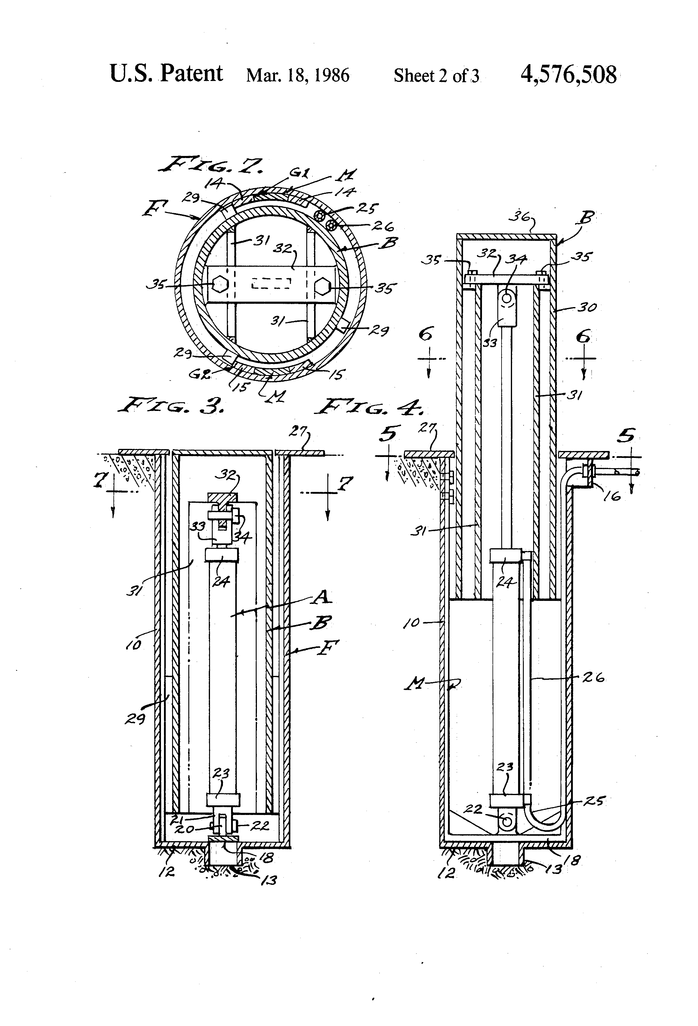 patent us4576508 - bollard trafficway barrier and vehicle arrest system