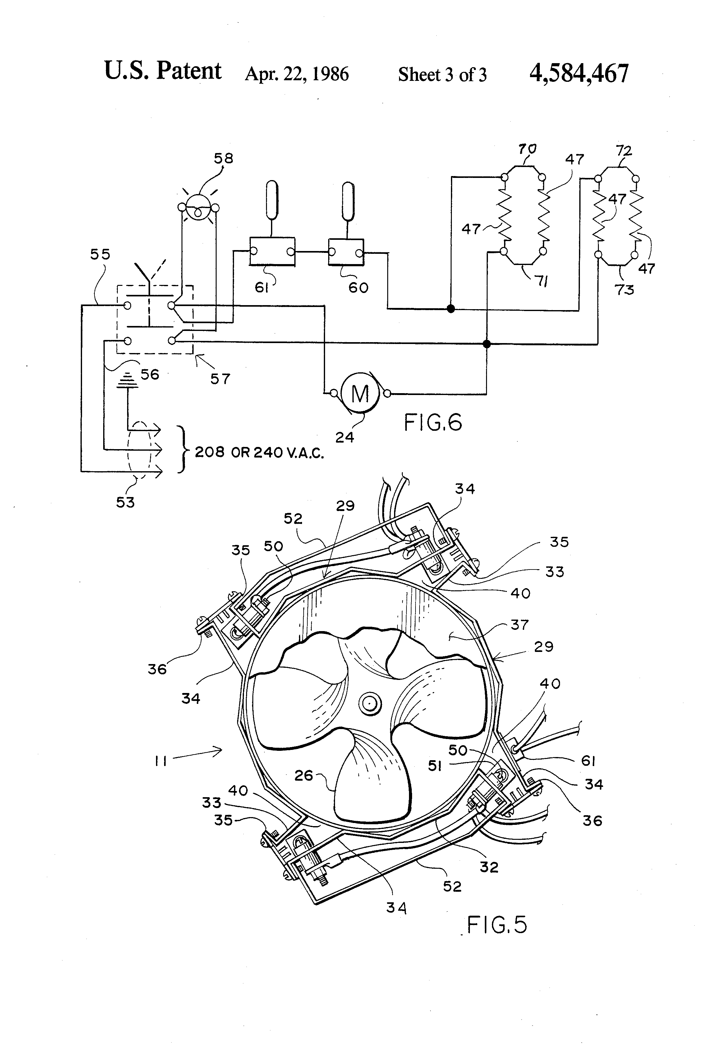 US4584467 3 patent us4584467 forced hot air heating cabinet for self presto heat dish wiring diagram at soozxer.org