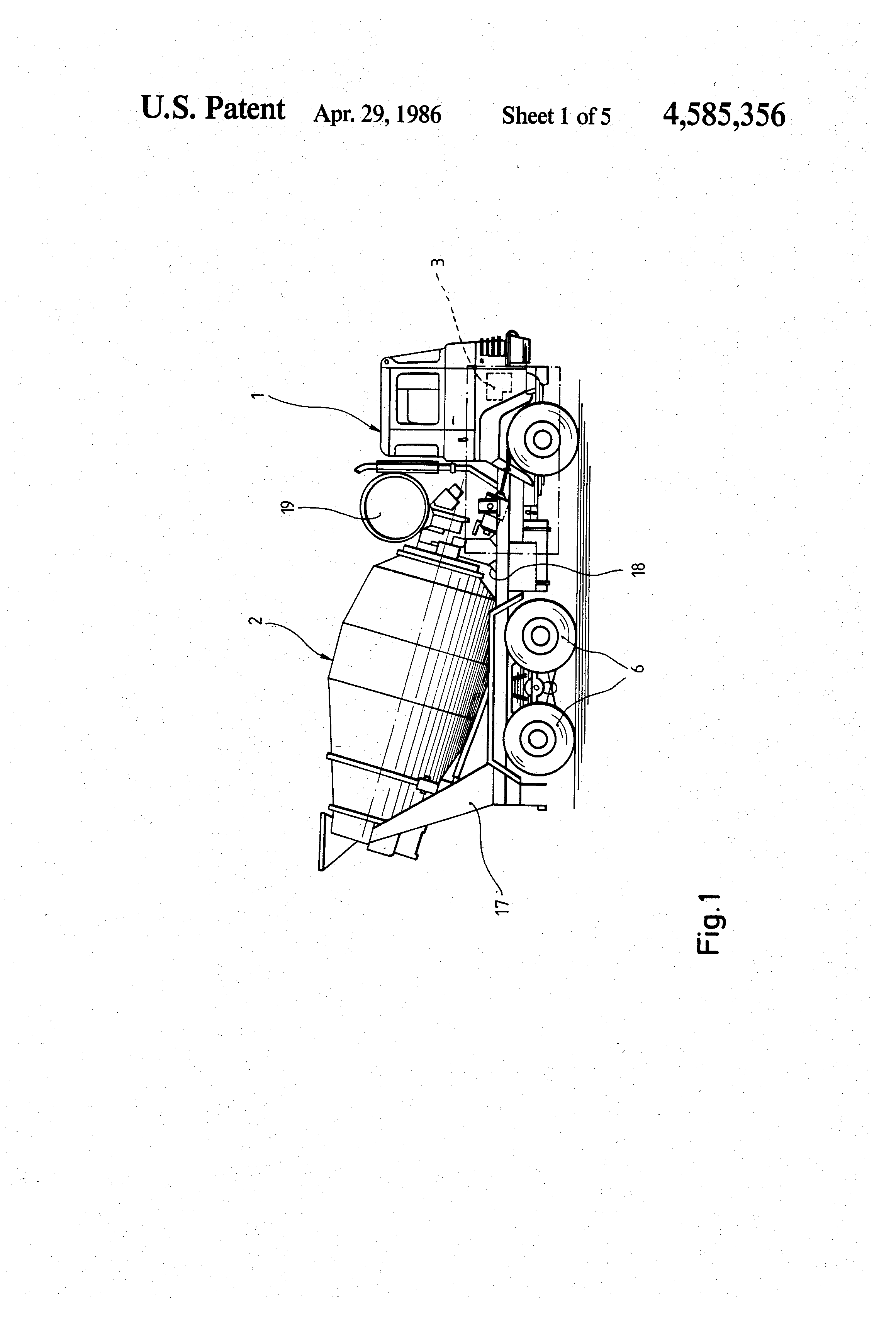 US4585356 1 patent us4585356 concrete mixer truck google patents mcneilus wiring diagrams at nearapp.co