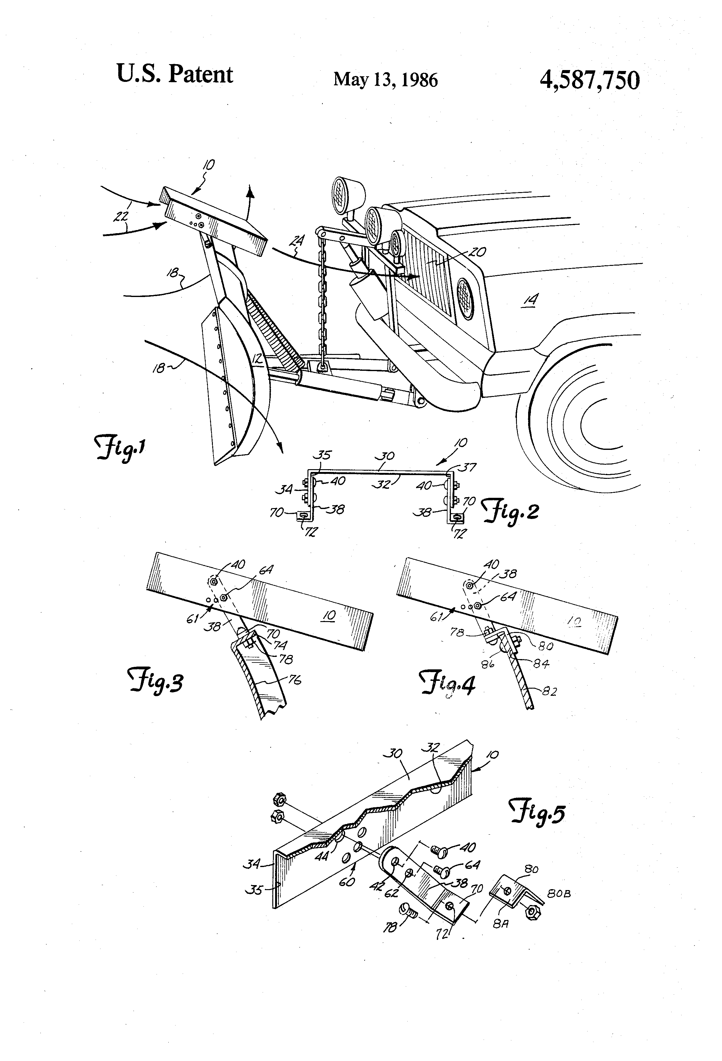Snow Plow Air Intake : Patent us air scoop mounted on snow plow google