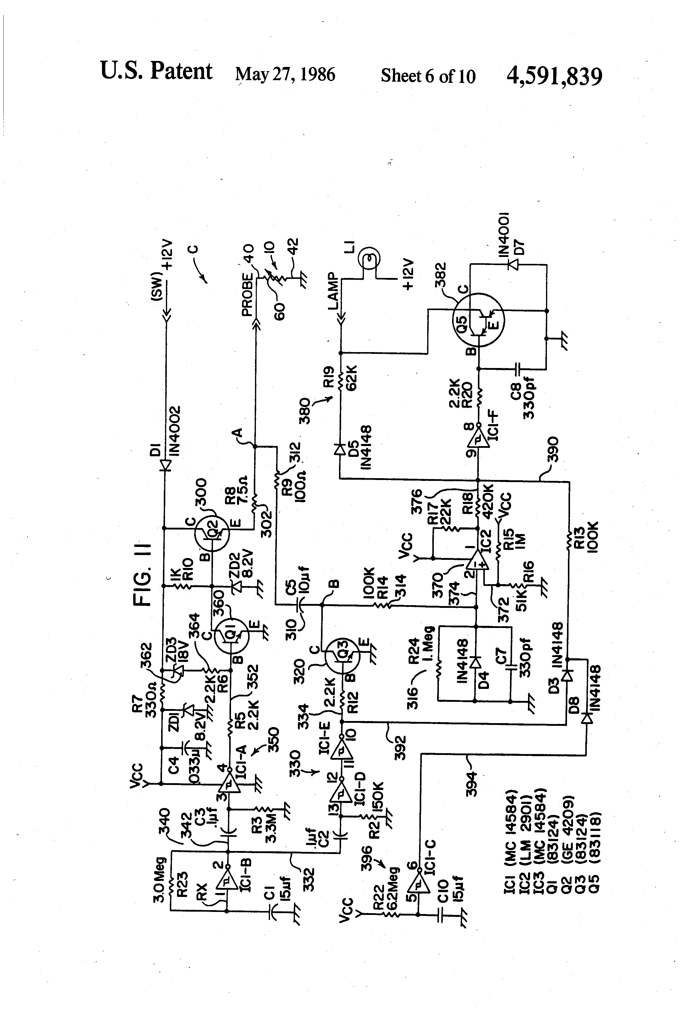 patent us system for detecting low liquid level and probe patent drawing