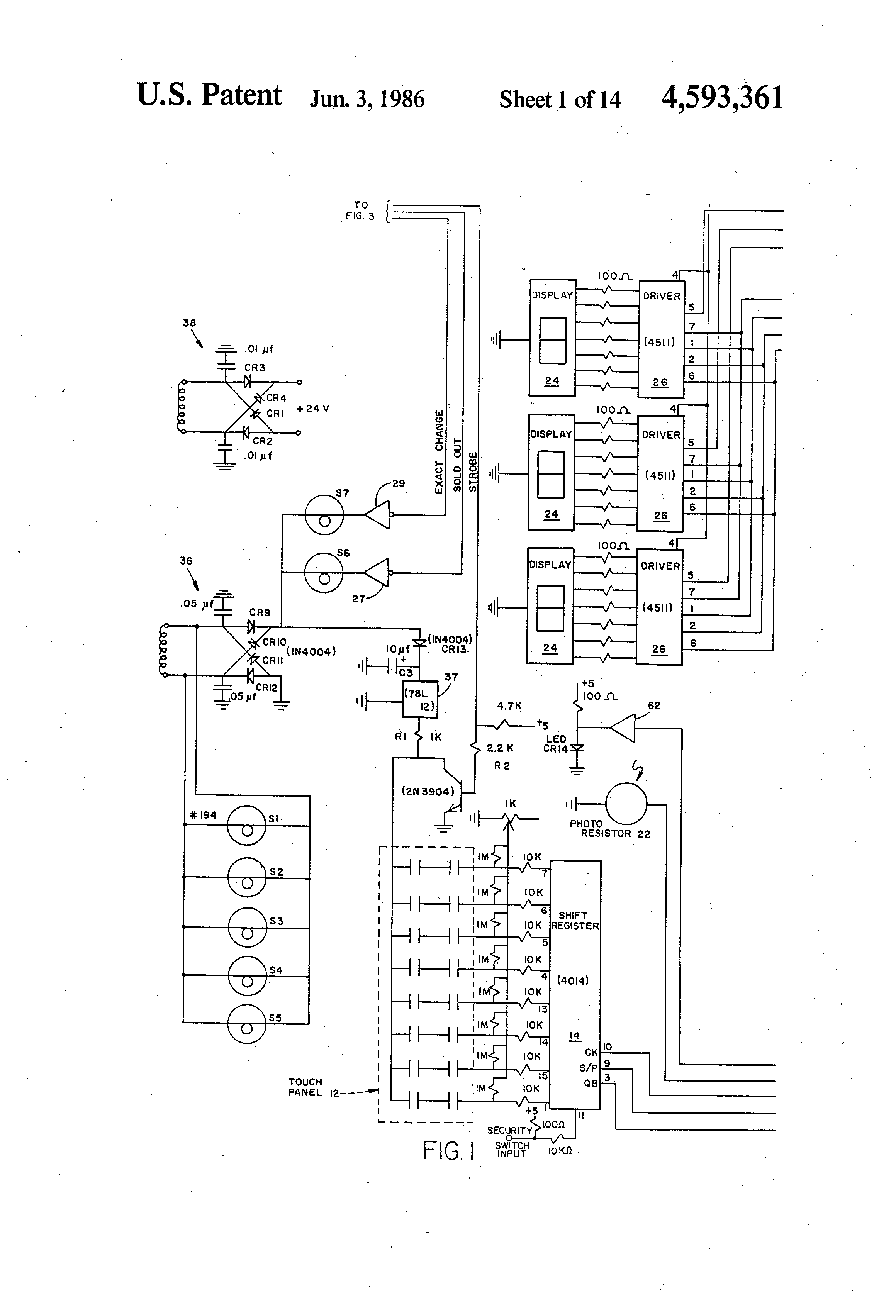US4593361 1 patent us4593361 vending machine control circuit google patents vending machine wiring diagram at reclaimingppi.co