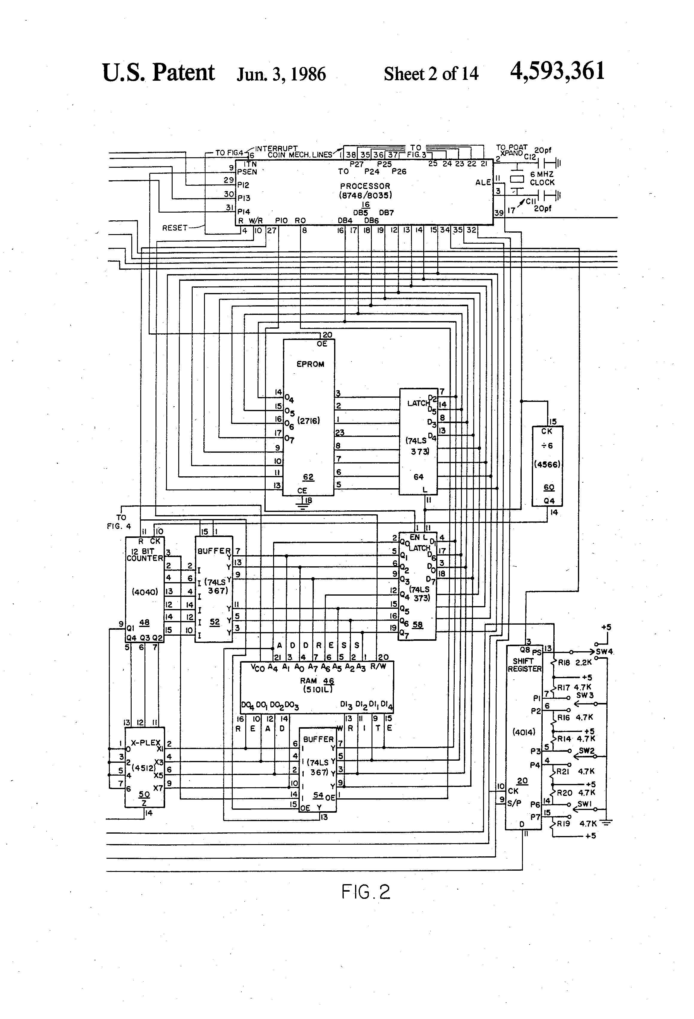 US4593361 2 patent us4593361 vending machine control circuit google patents vending machine wiring diagram at reclaimingppi.co