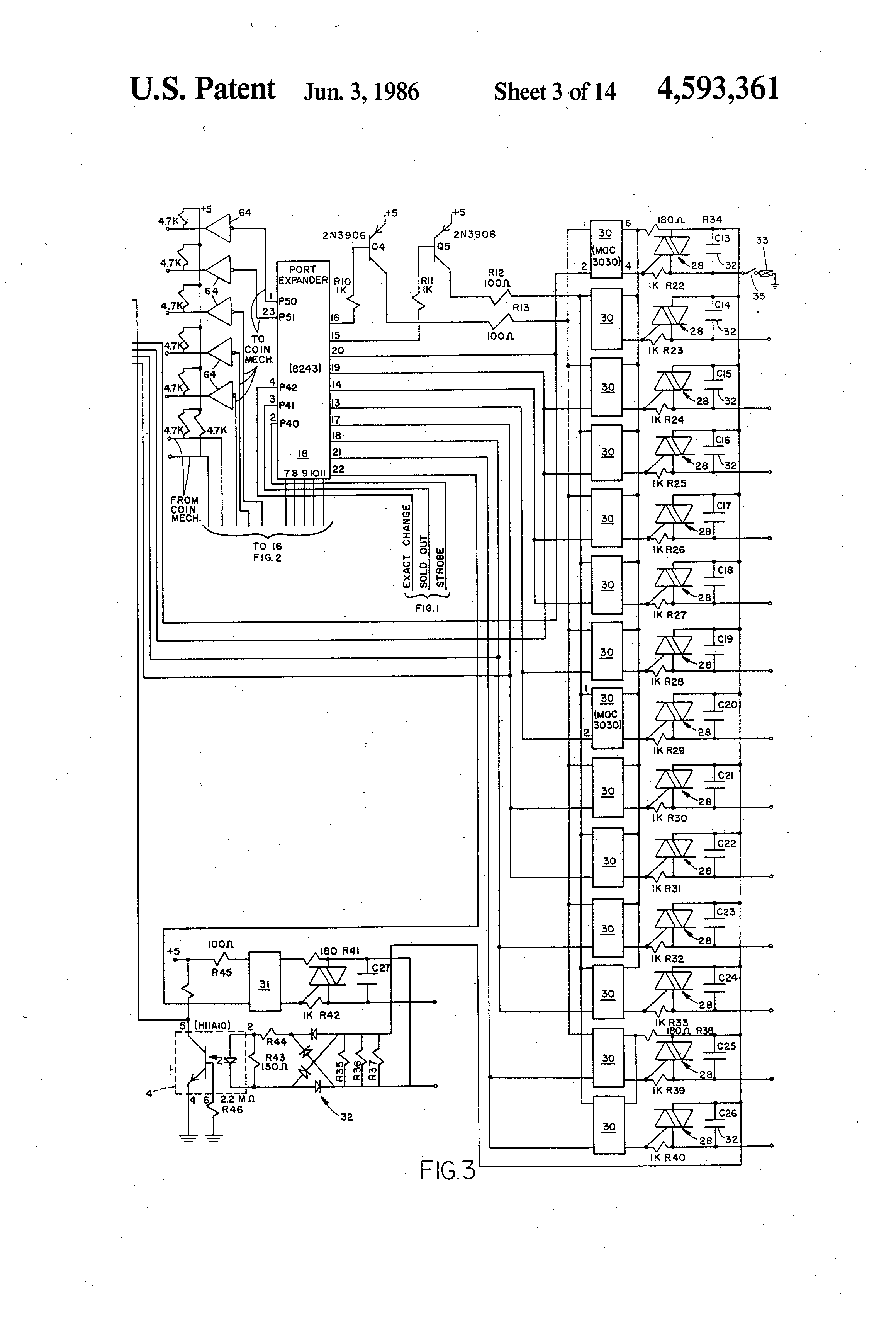 US4593361 3 patent us4593361 vending machine control circuit google patents vending machine wiring diagram at reclaimingppi.co