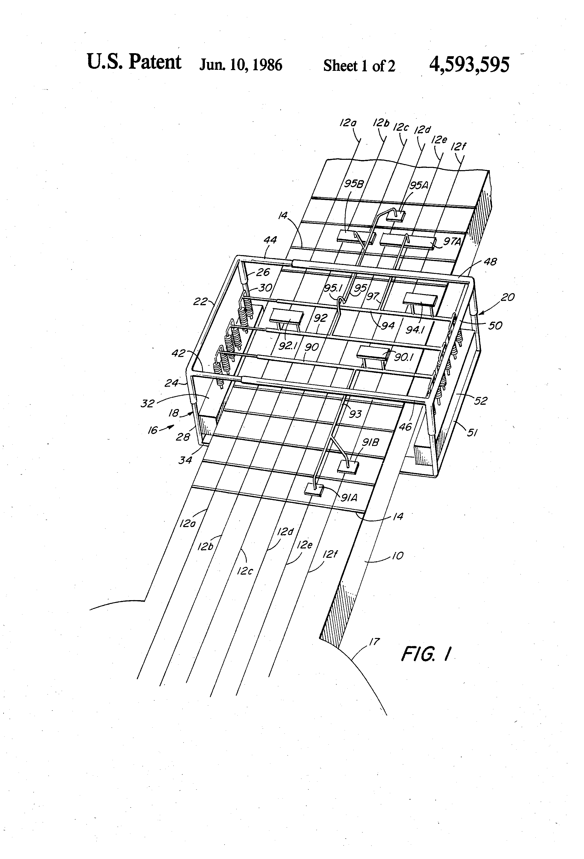 Patent us4593595 mechanical guitar chord maker google patents patent drawing hexwebz Images