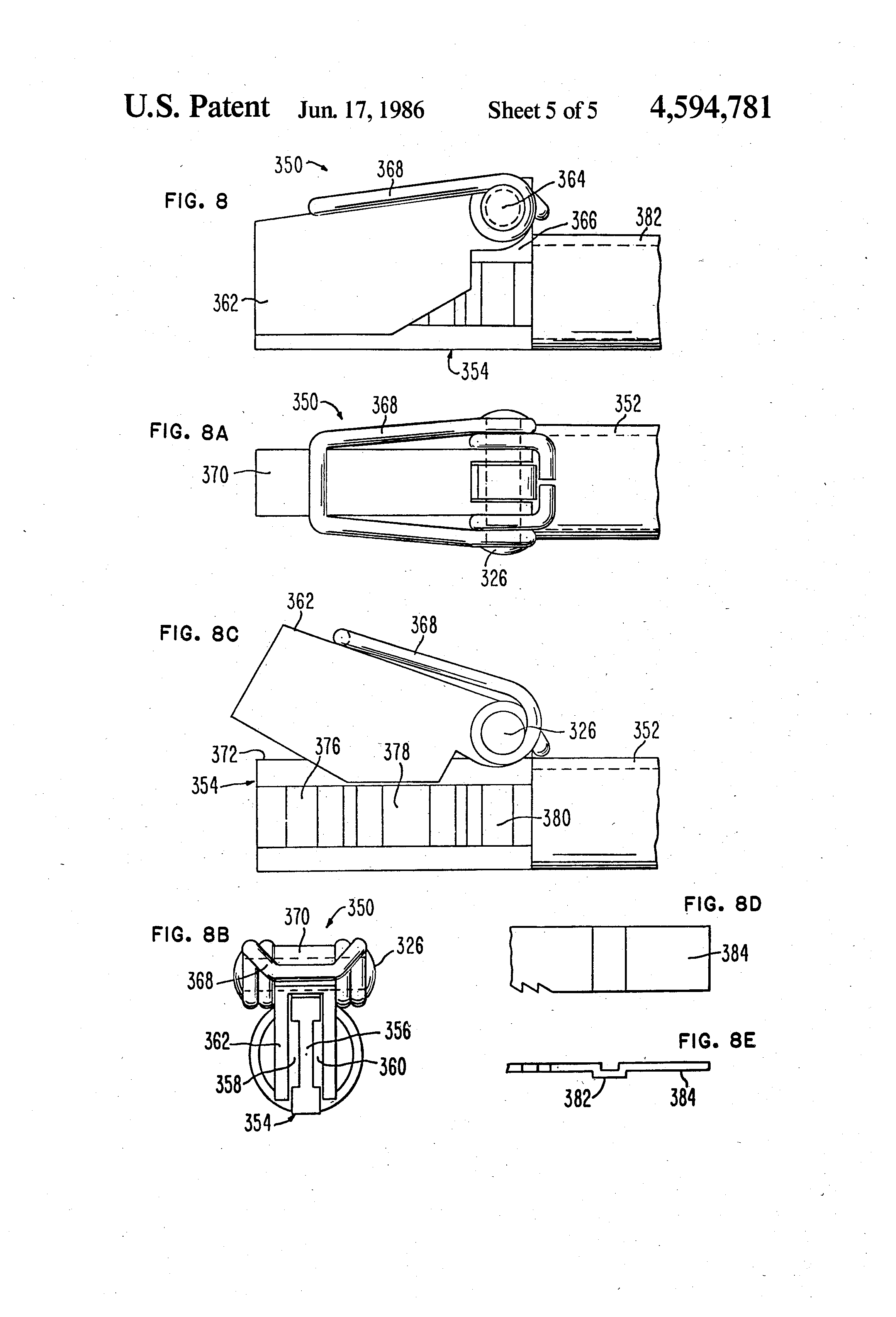 holder for saber saw blade