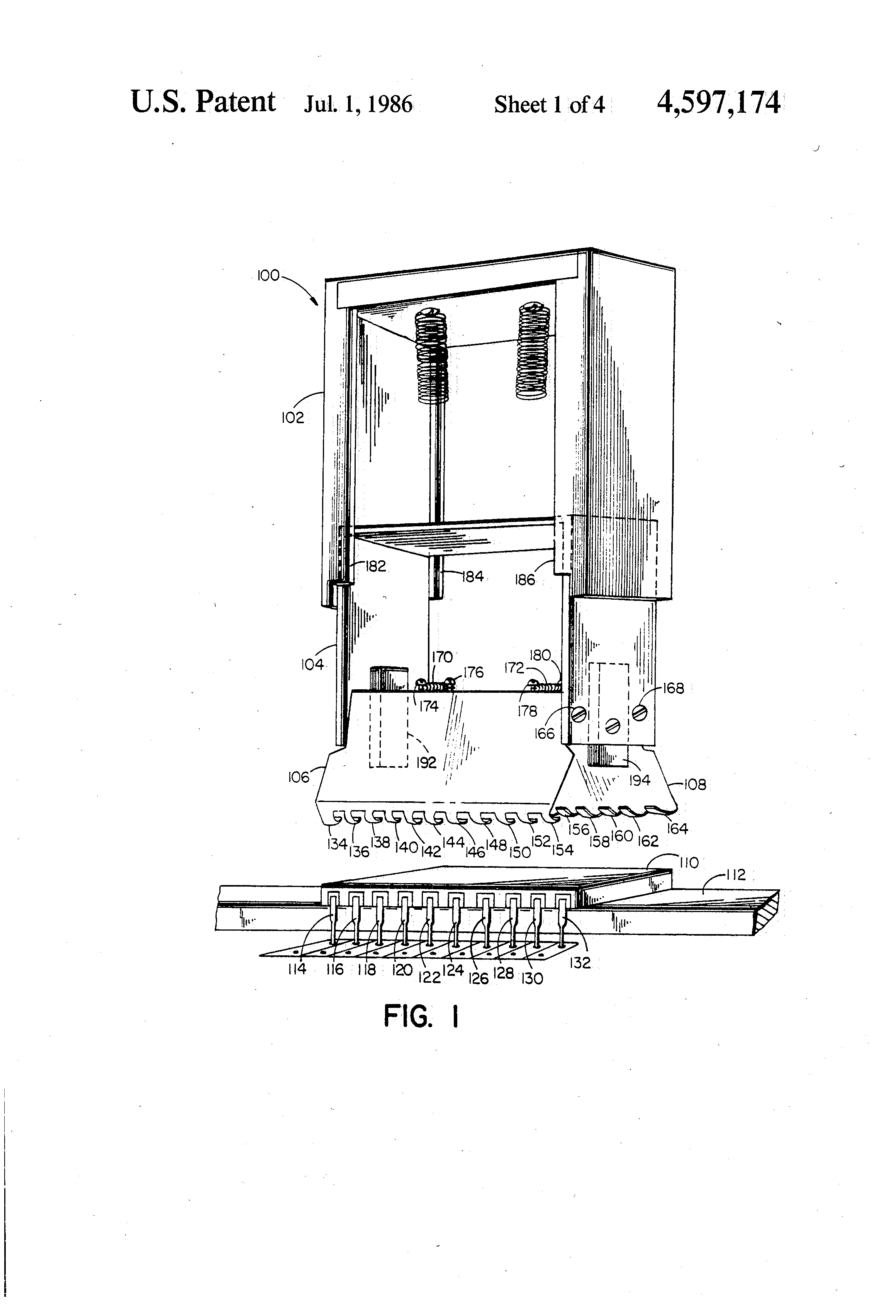 patent us4597174 - integrated circuit chip insertion and removal tool