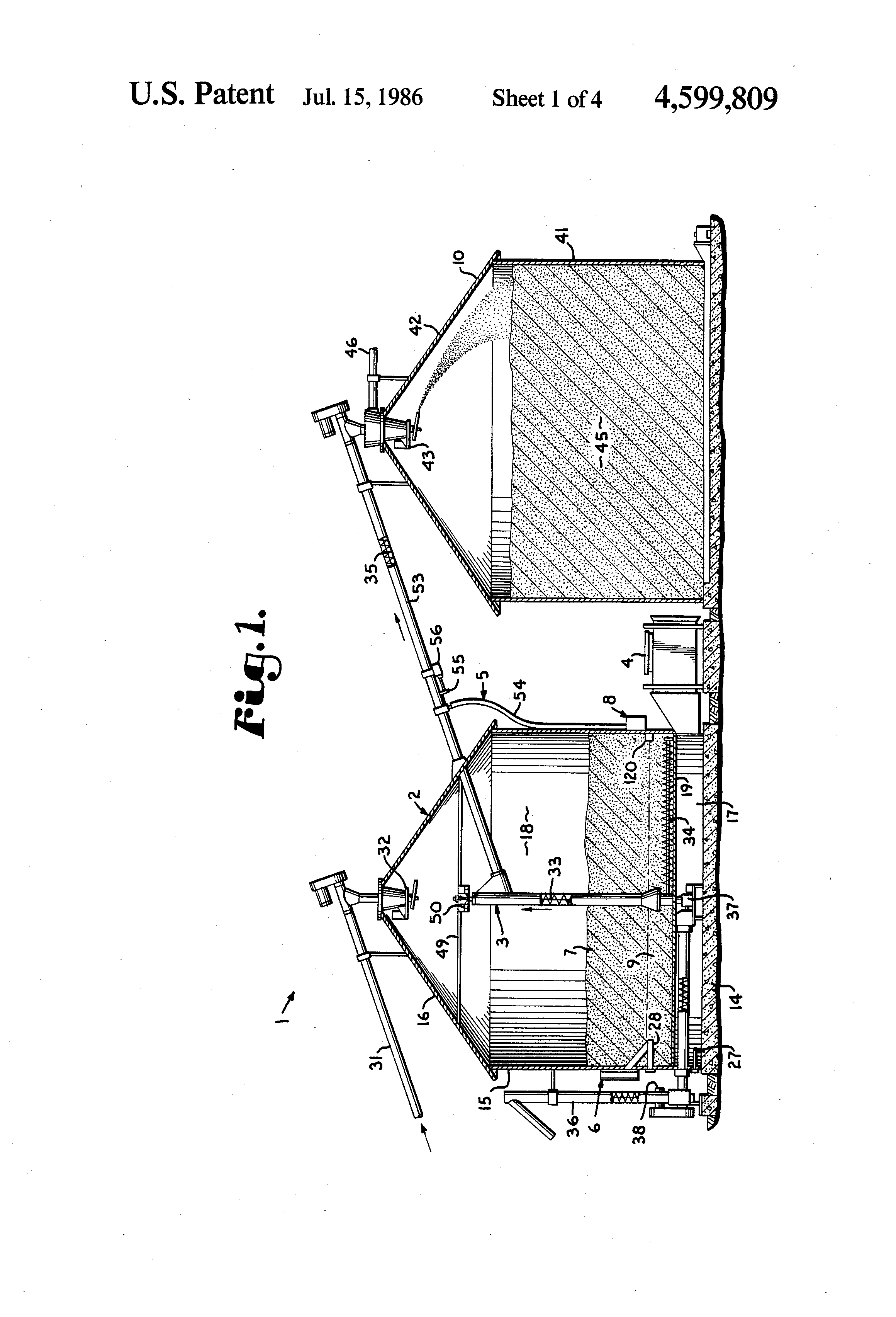 patent us4599809 grain dryer system google patents patent drawing
