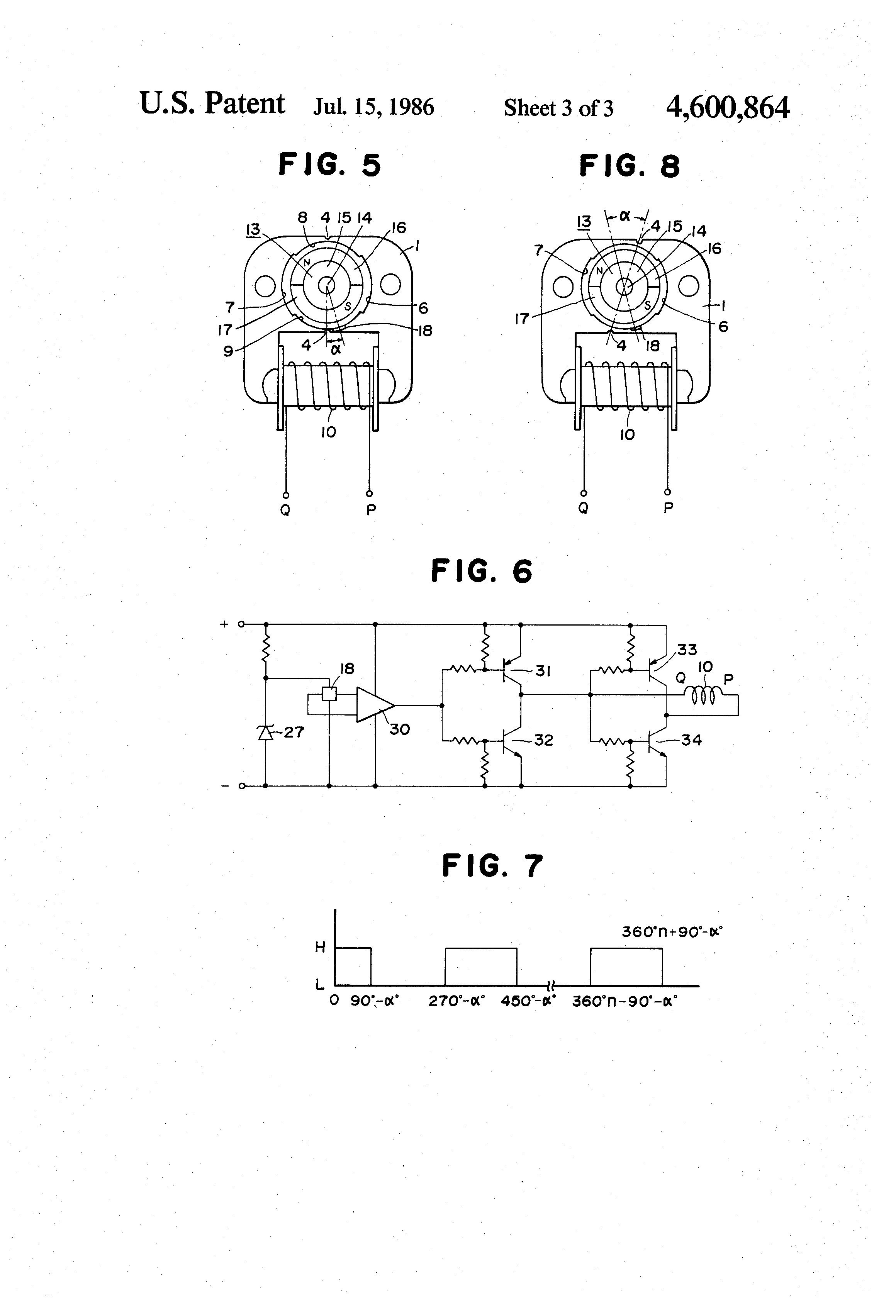 US4600864 3 patent us4600864 easily restarted brushless dc motor google Single Phase Motor Wiring Diagrams at edmiracle.co