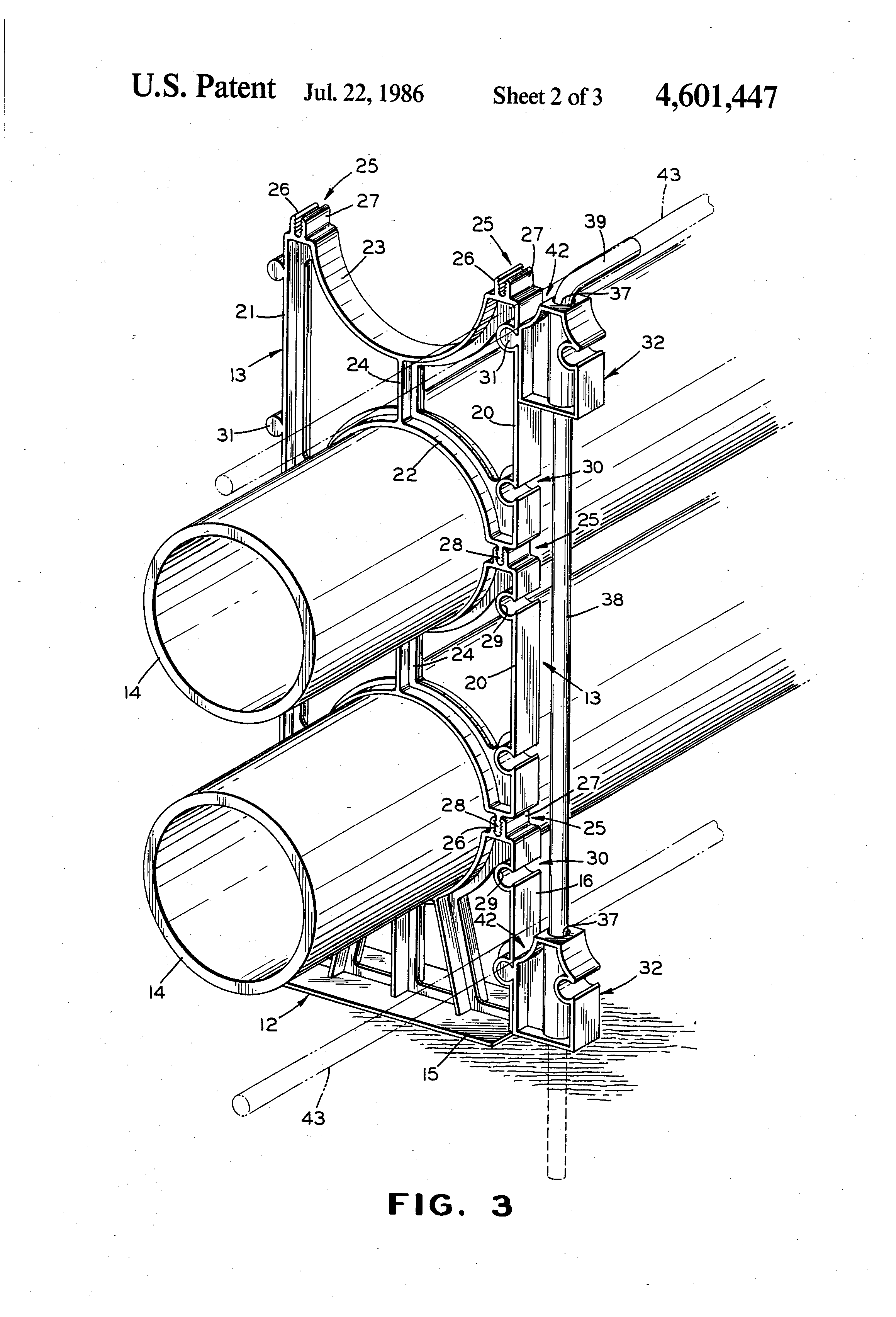 Patent us conduit spacer anchoring system