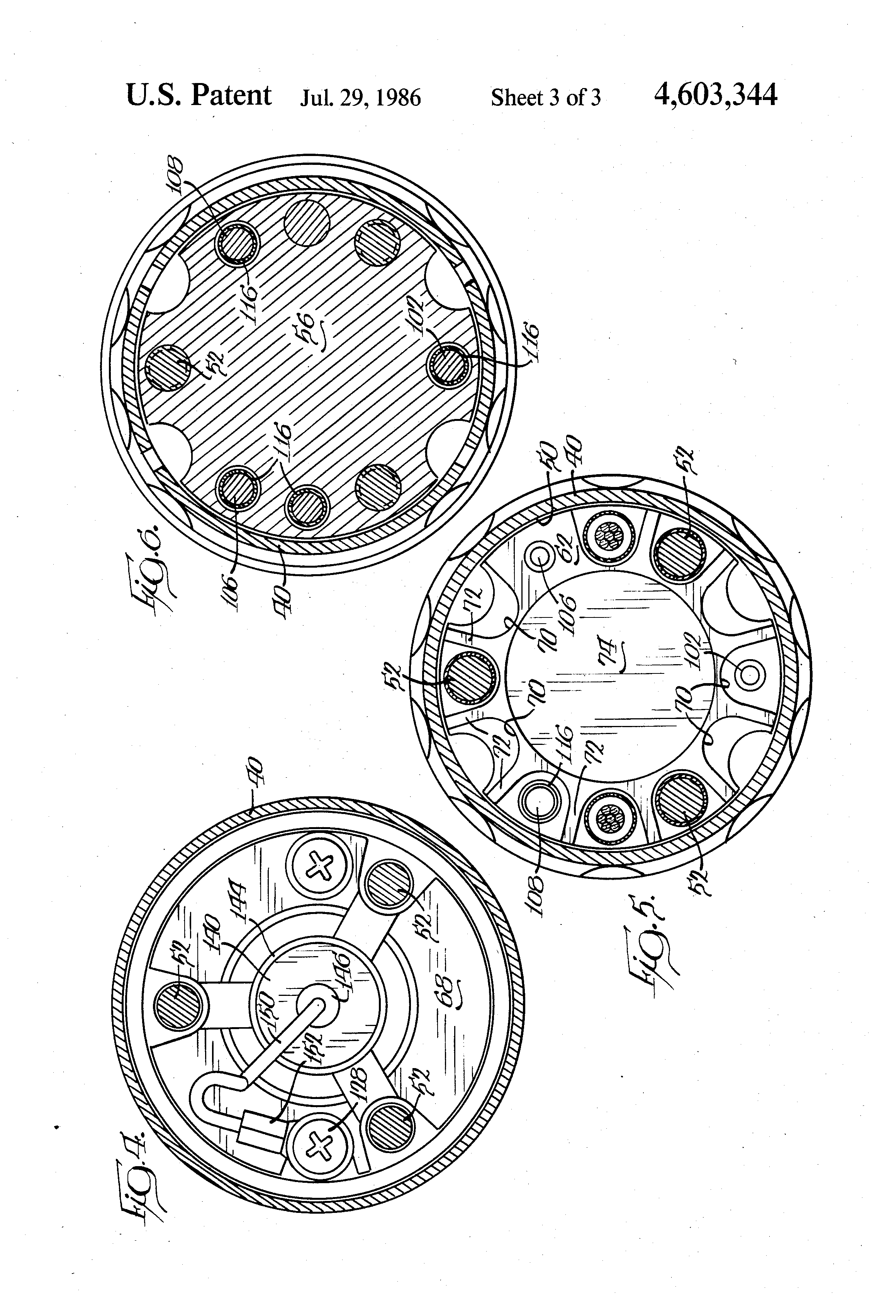 patent us4603344 - rotating rectifier assembly