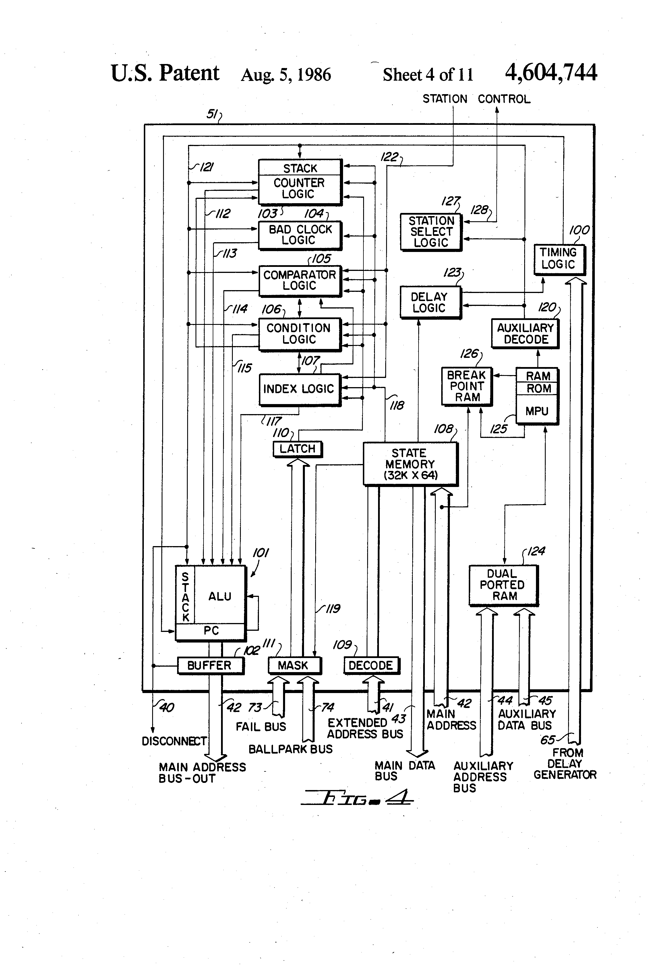 Patent Us4604744 Automated Circuit Tester Google Patents Logic Diagram Of Ram Drawing