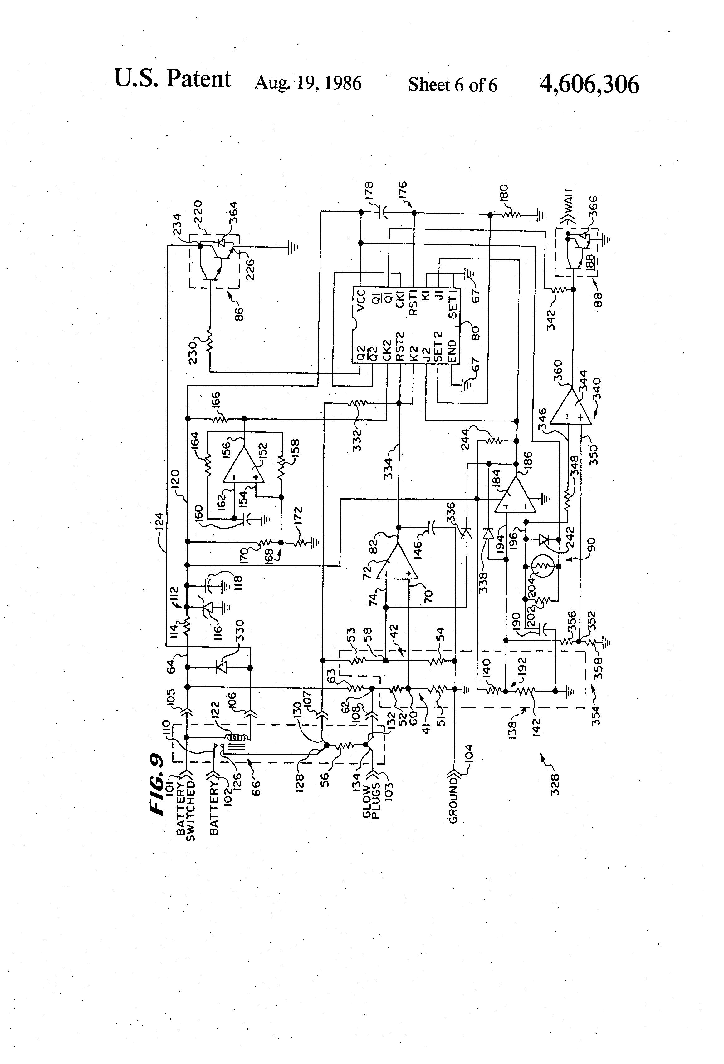 Patent US4606306 Glow plug control circuit Google Patents – Isuzu Glow Plug Wiring
