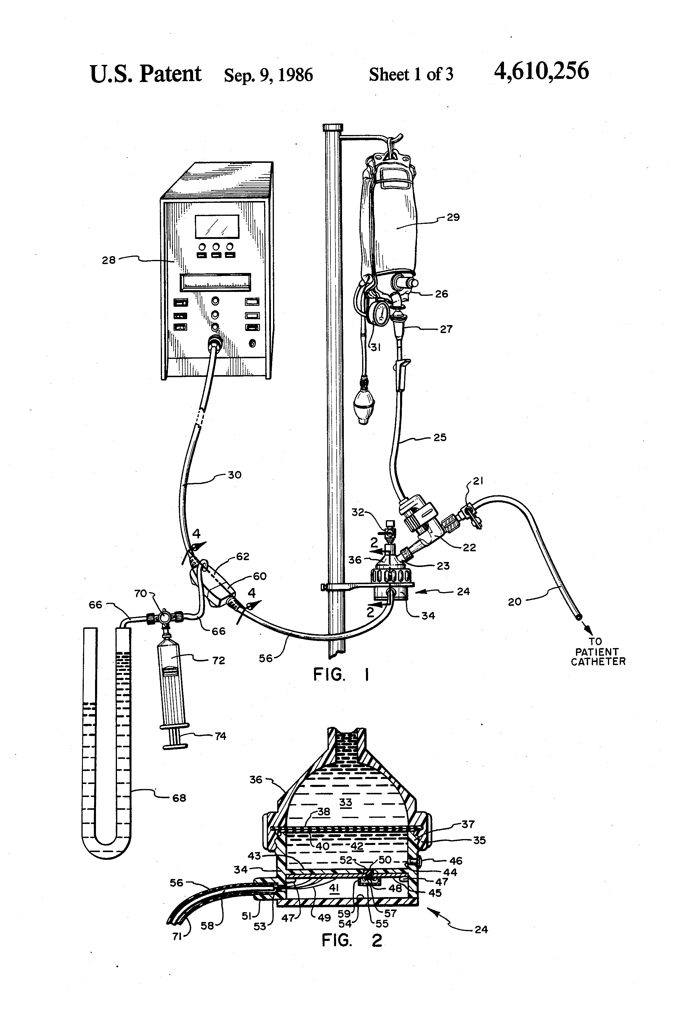 patent us4610256 - pressure transducer