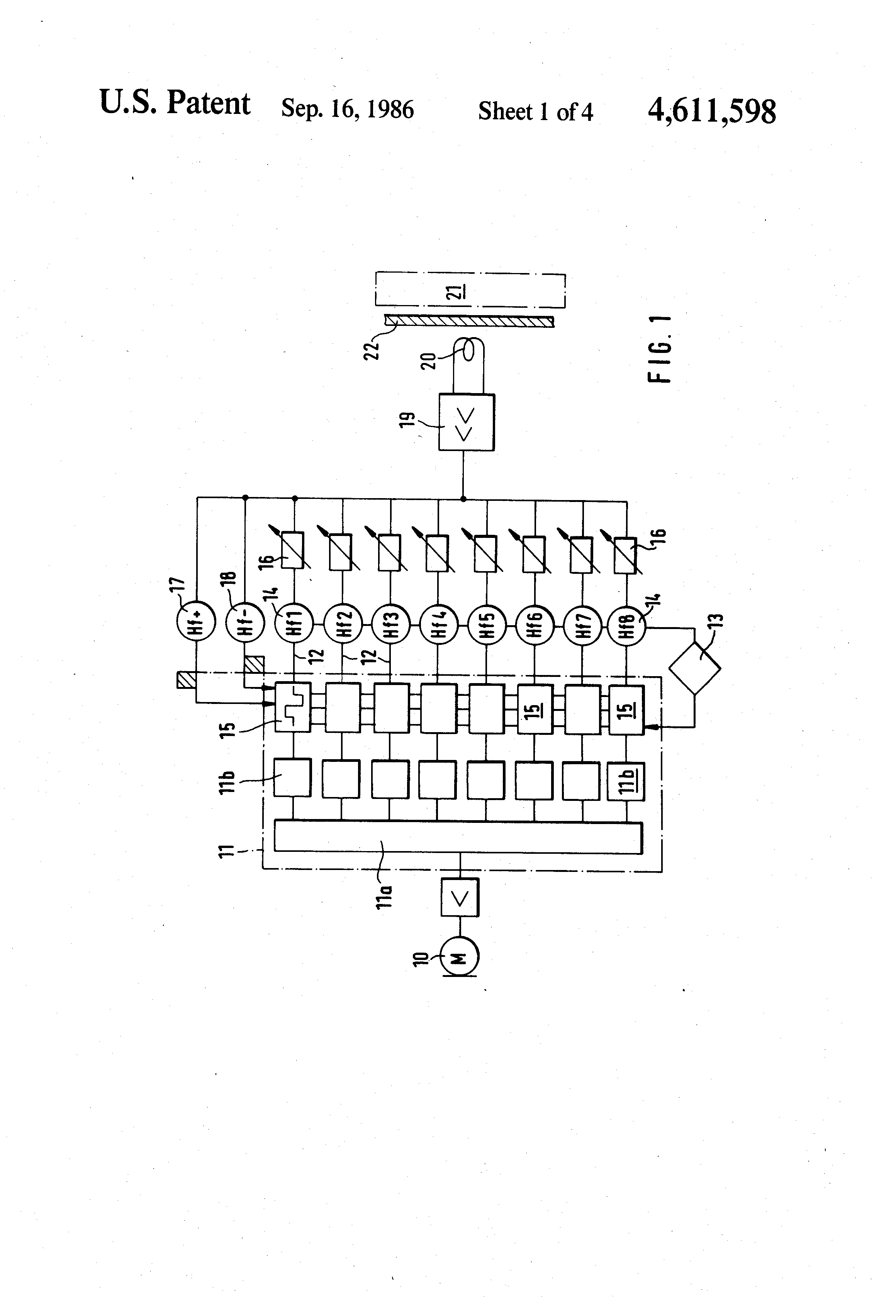 Patent Us4611598 Multi Frequency Transmission System For Implanted Are Many Types Of Hearing Aids Which Vary In Size Power And Circuitry Drawing