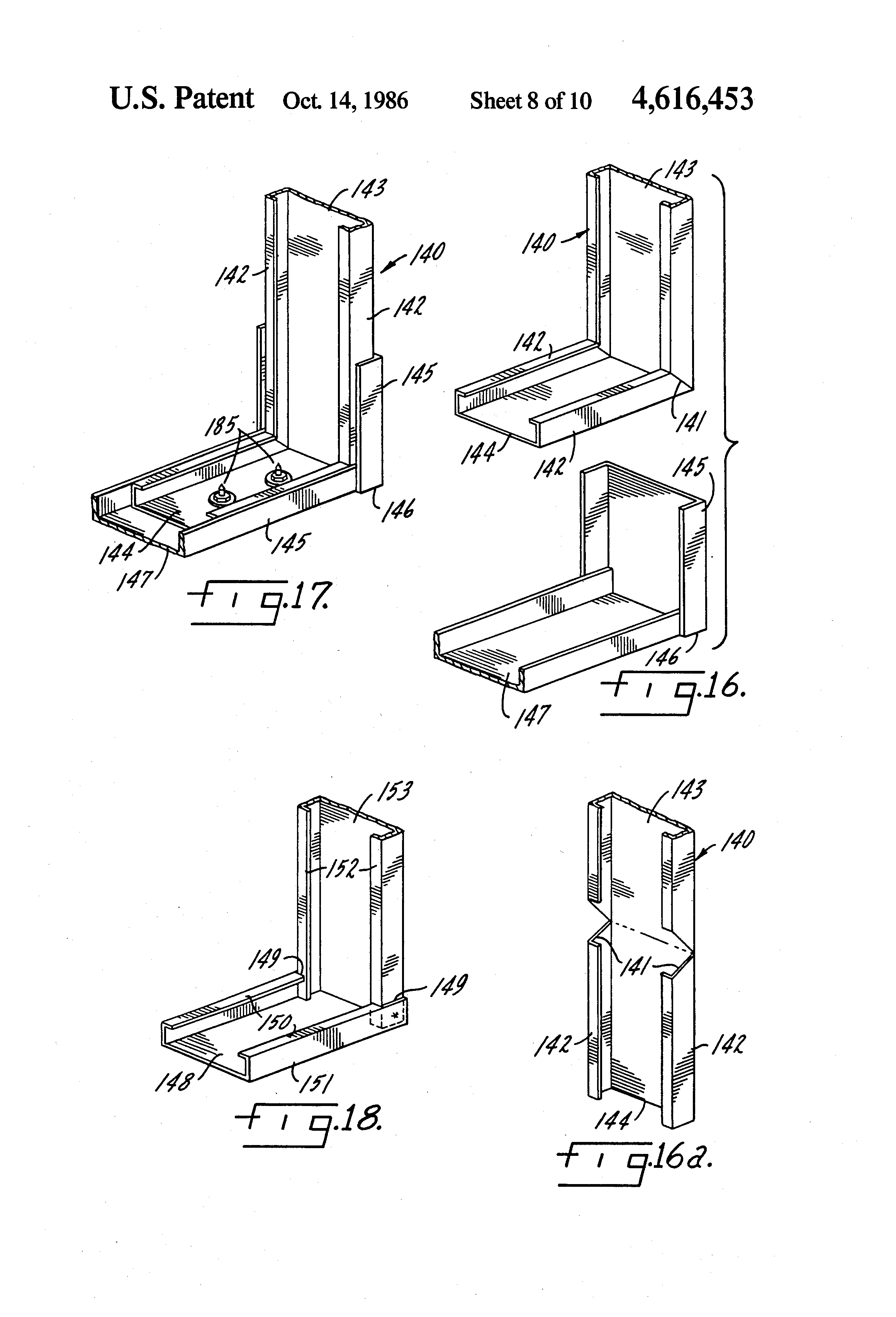 Patent us4616453 light gauge steel building system google patents patent drawing hexwebz Choice Image