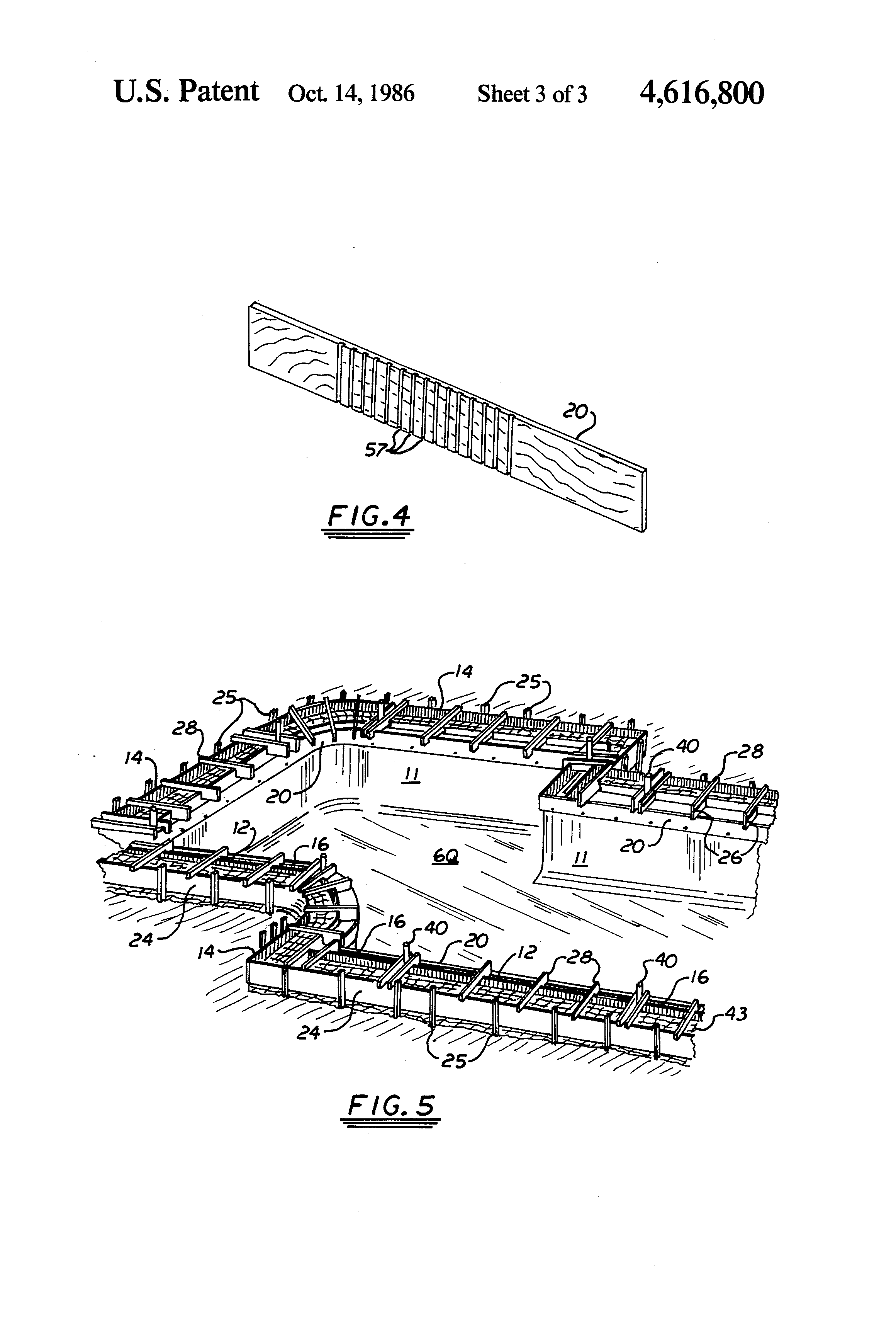 patent us4616800 - swimming pool bond beam form system