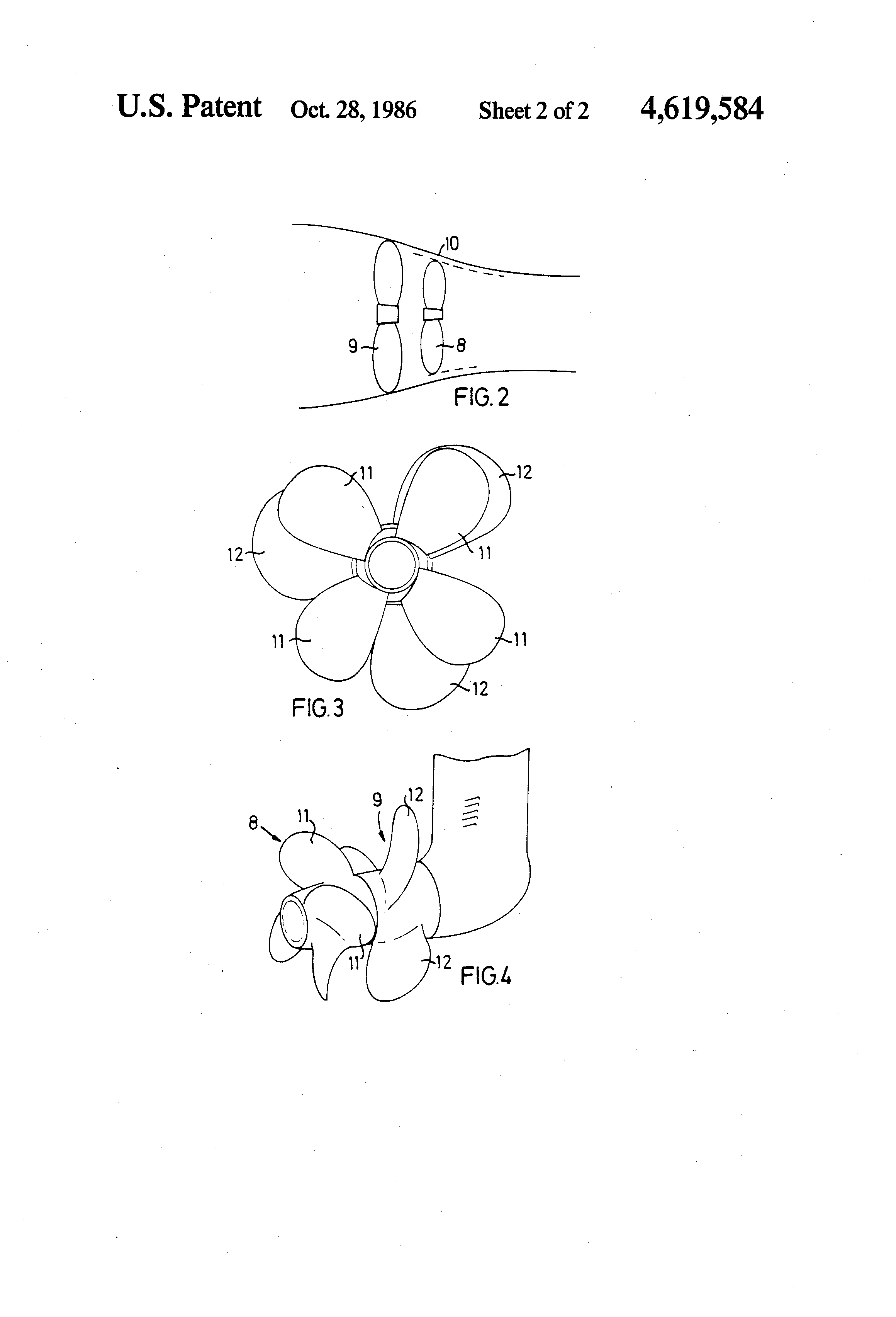 patent us4619584 double propeller drive for boats google patents
