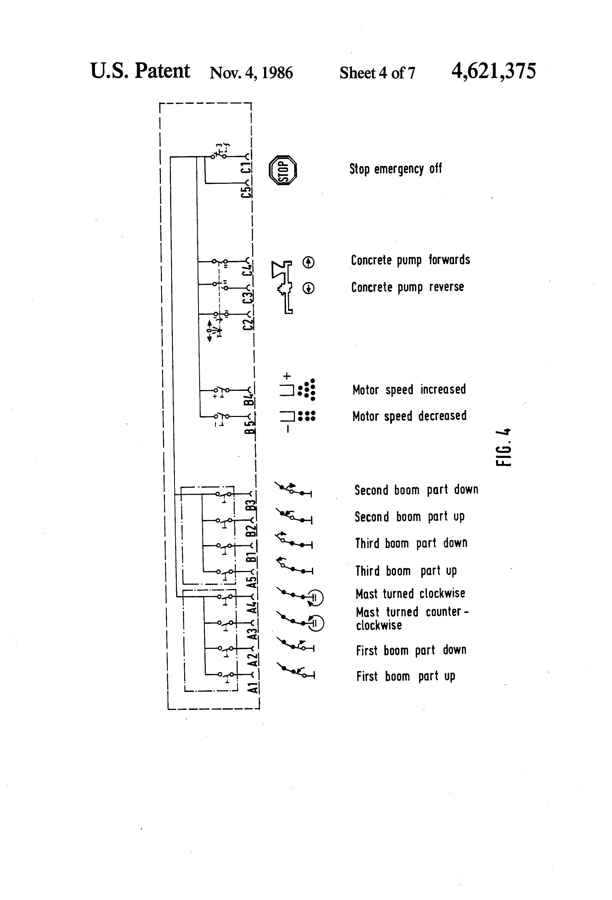 US4621375 4 patent us4621375 remote control system for constructional demag dse 10r control pendant wiring diagram at panicattacktreatment.co