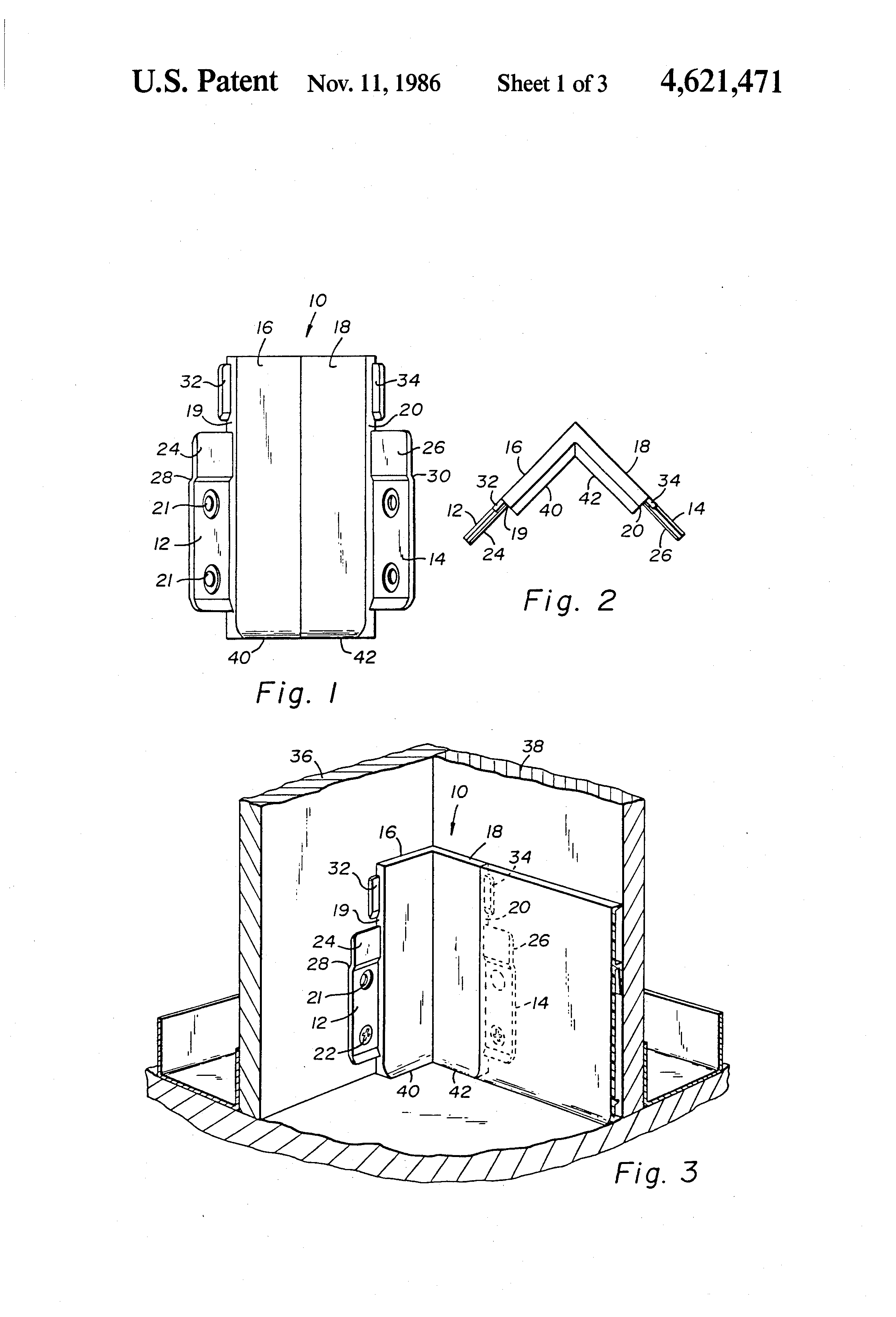 Us4621471 Base Trim System For Partition