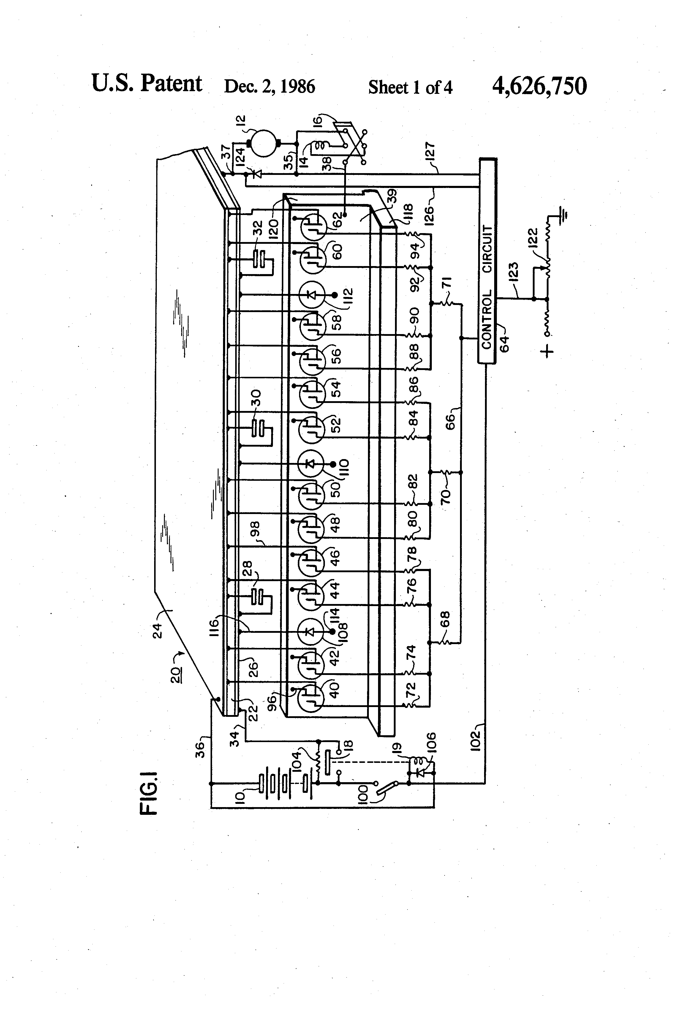 patent us4626750 - solid state d c  motor control