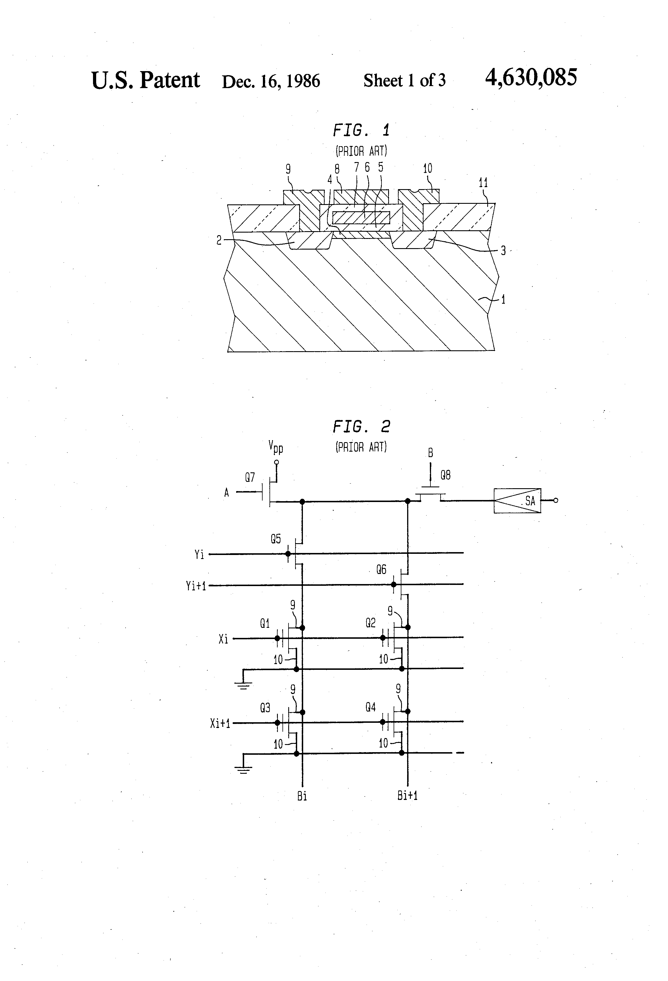 Patent Us4630085 Erasable Programmable Read Only Memory Device Readonly Integrated Circuits These Drawing