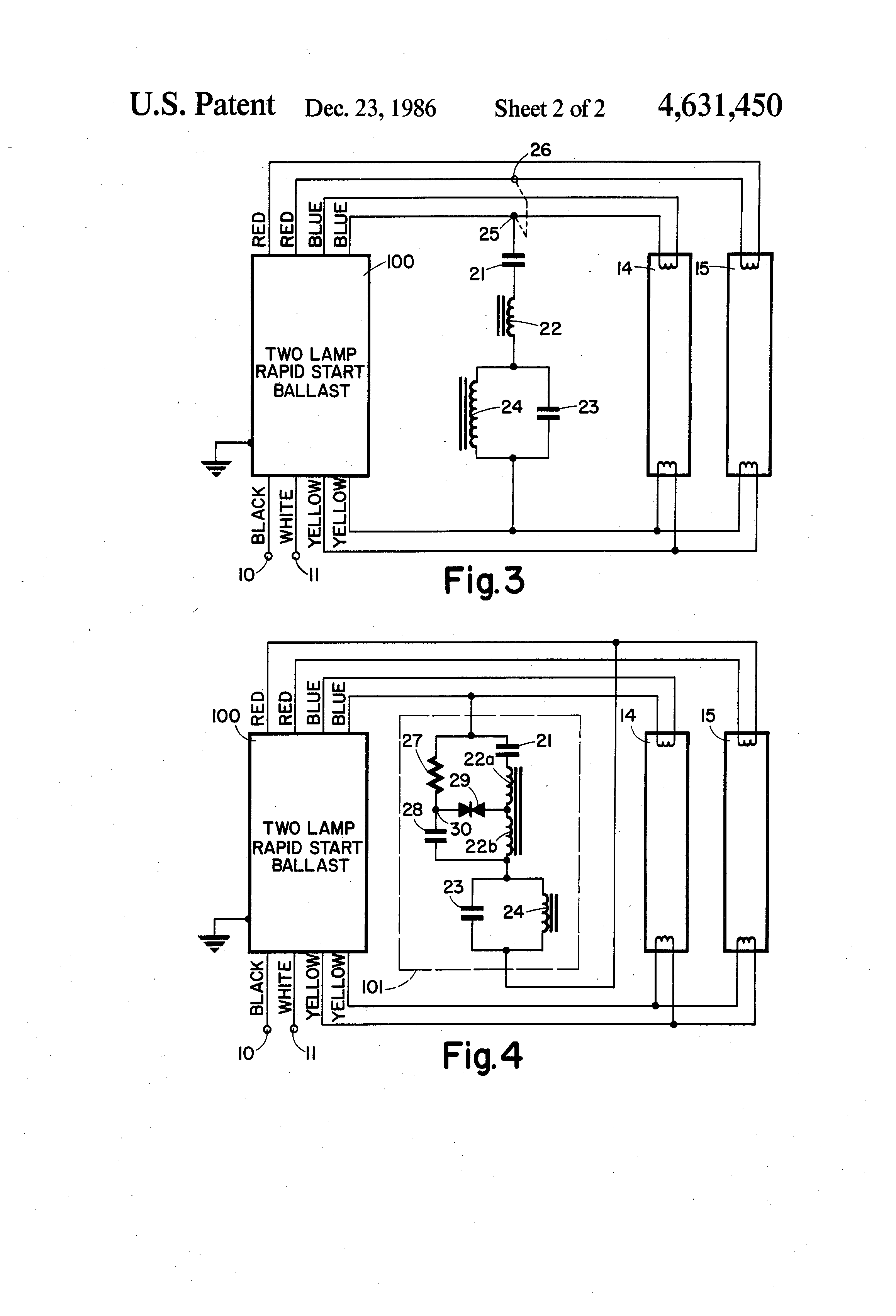 Patent Us4631450 Ballast Adaptor For Improving Operation Of 40w Fluorescent Lamp Inverter Diagram Drawing